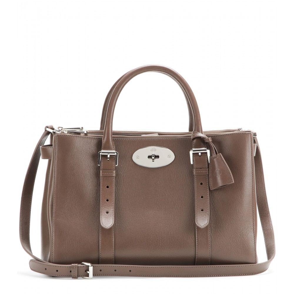 Mulberry Bayswater Double Zip Leather Tote in Brown - Lyst 03bb1f76c897c