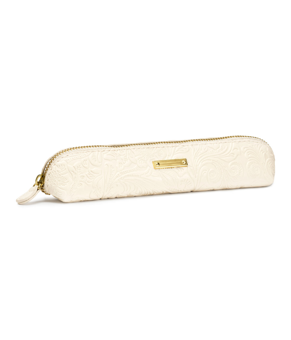 lyst h m pencil case in white. Black Bedroom Furniture Sets. Home Design Ideas