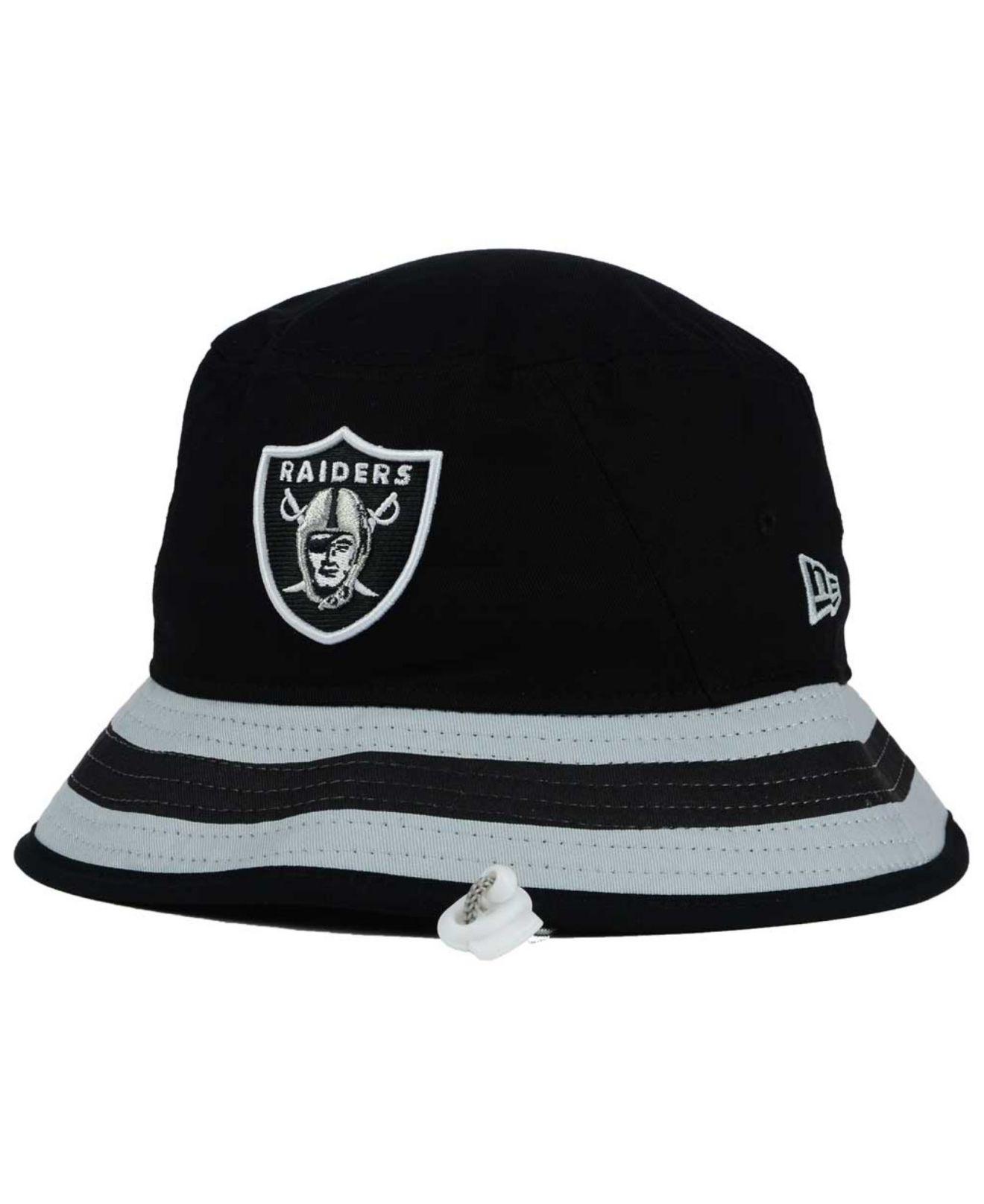 a5385c23292 Lyst - KTZ Oakland Raiders Team Stripe Bucket Hat in Black for Men