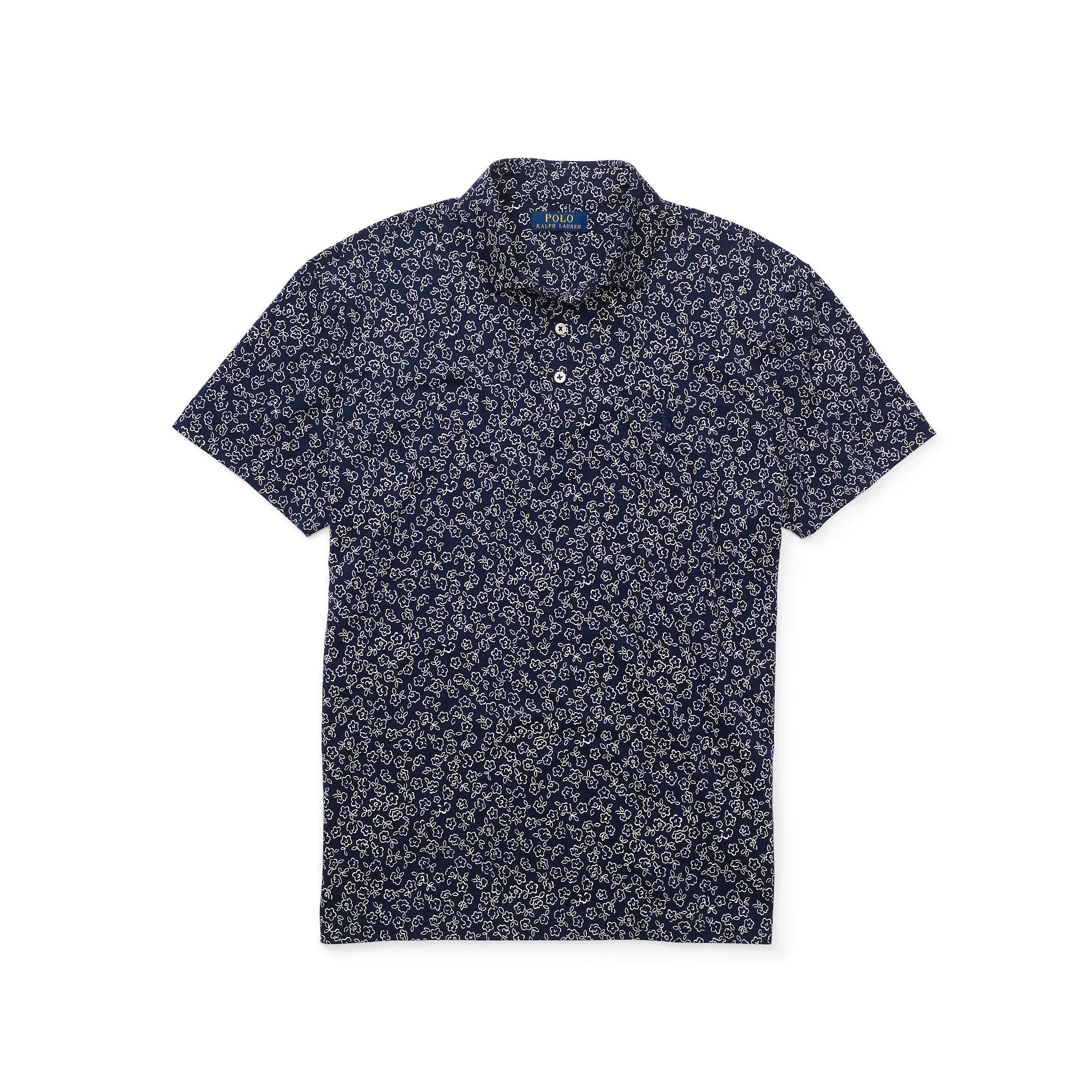 Polo ralph lauren floral print jersey polo shirt for men for Ralph lauren polo jersey shirt