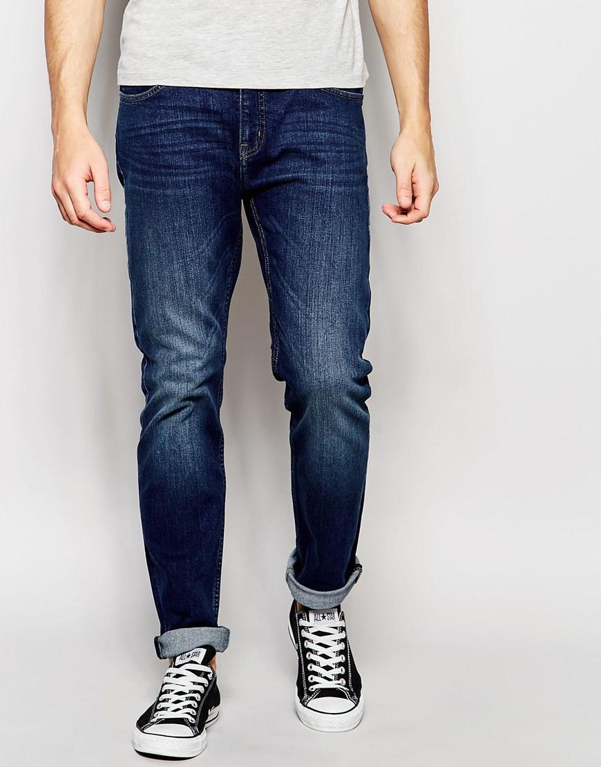 cheap monday jeans sonic slim fit mood dark vintage wash in blue for men lyst. Black Bedroom Furniture Sets. Home Design Ideas