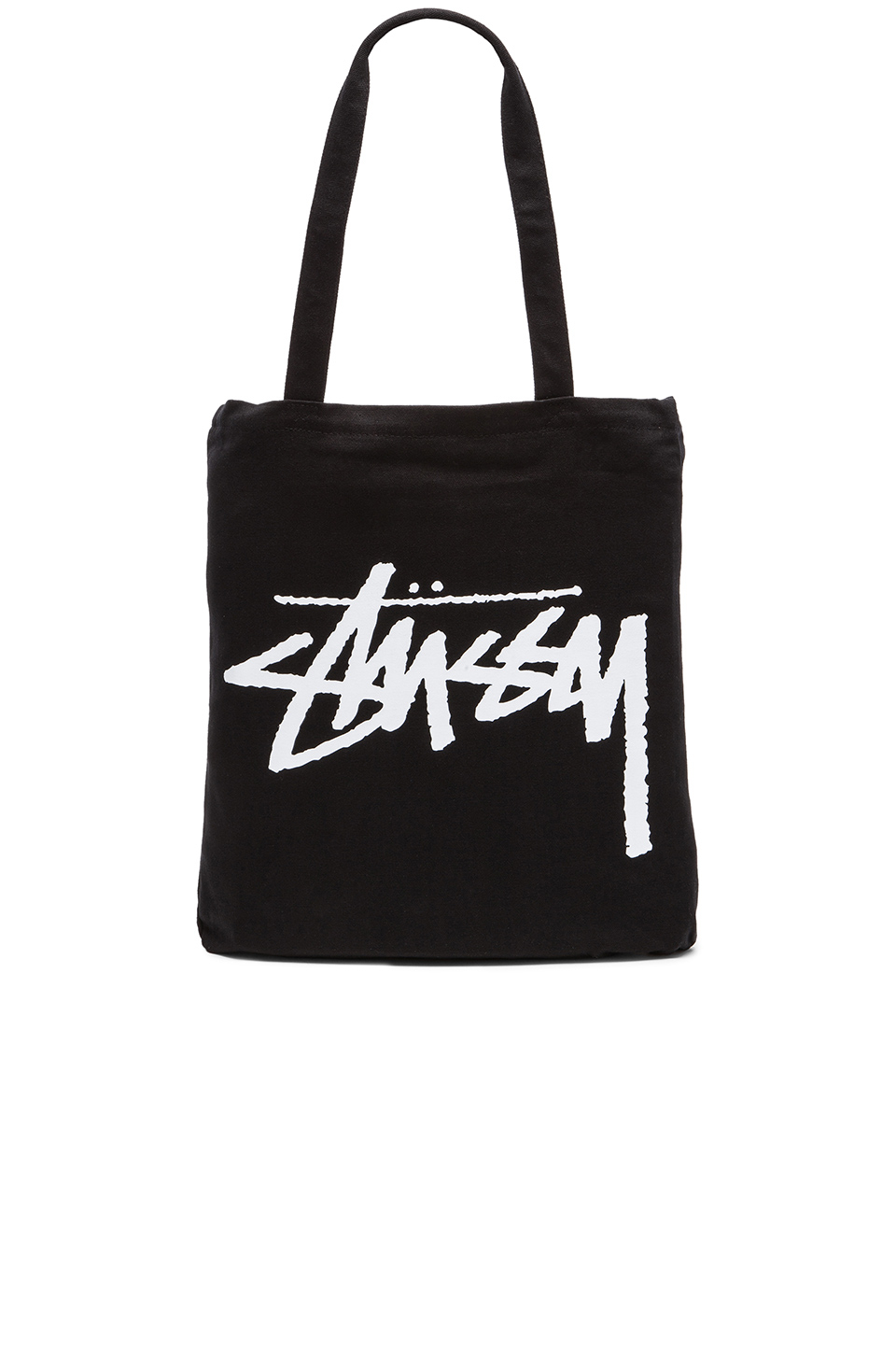 Stussy Stock Canvas Tote Bag in Black for Men | Lyst