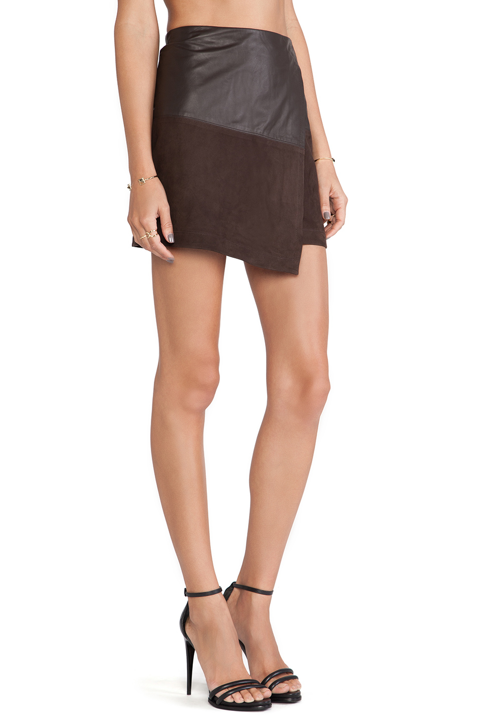 Leather Wrap Mini Skirt | Jill Dress