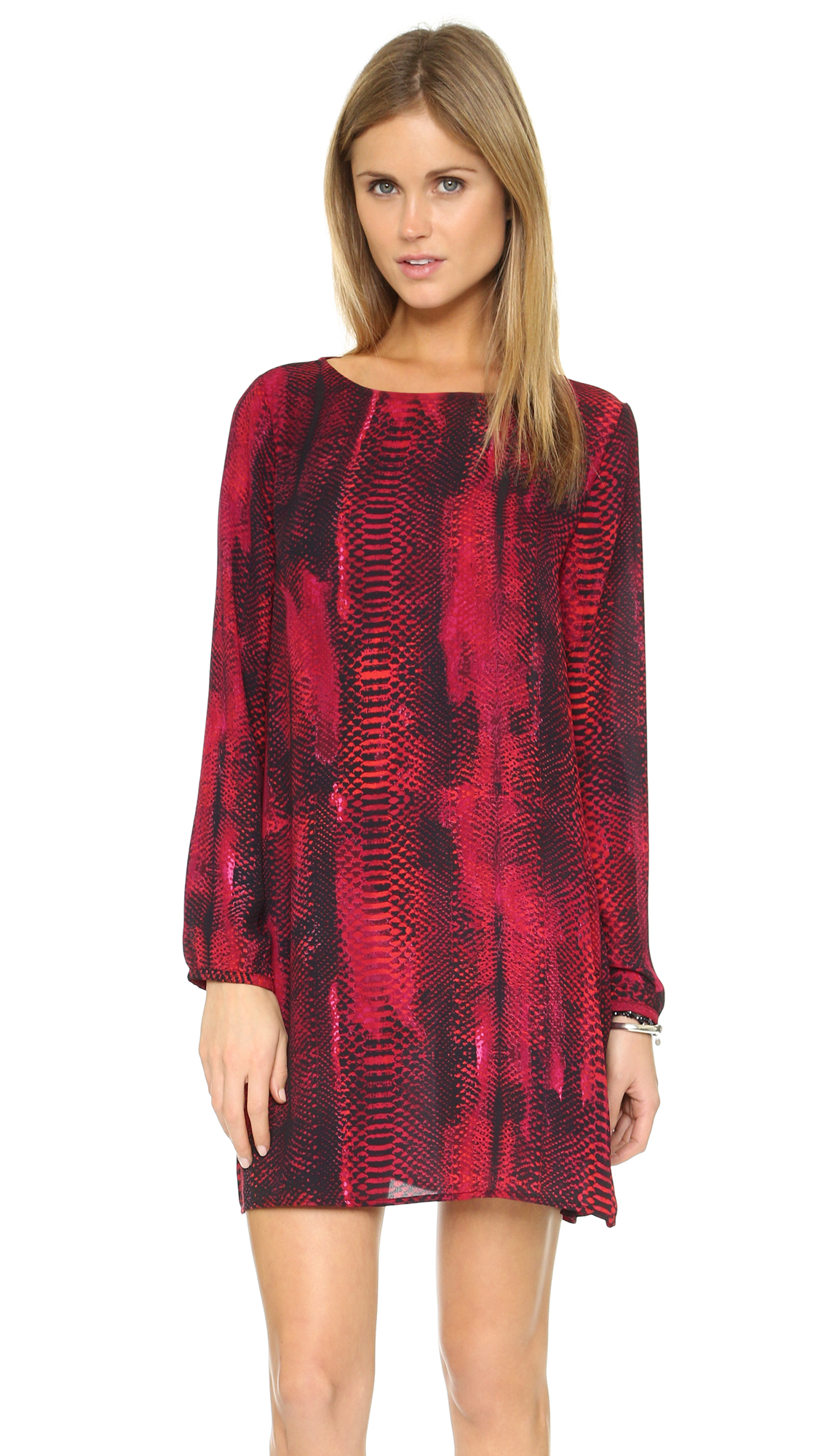 Lyst Bb Dakota Jenelle Snake Print Dress In Red