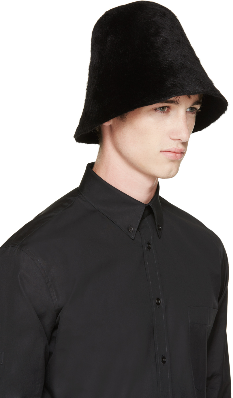 Lyst - Comme des Garçons Black Rabbit Fur Hat in Black for Men a4959279777