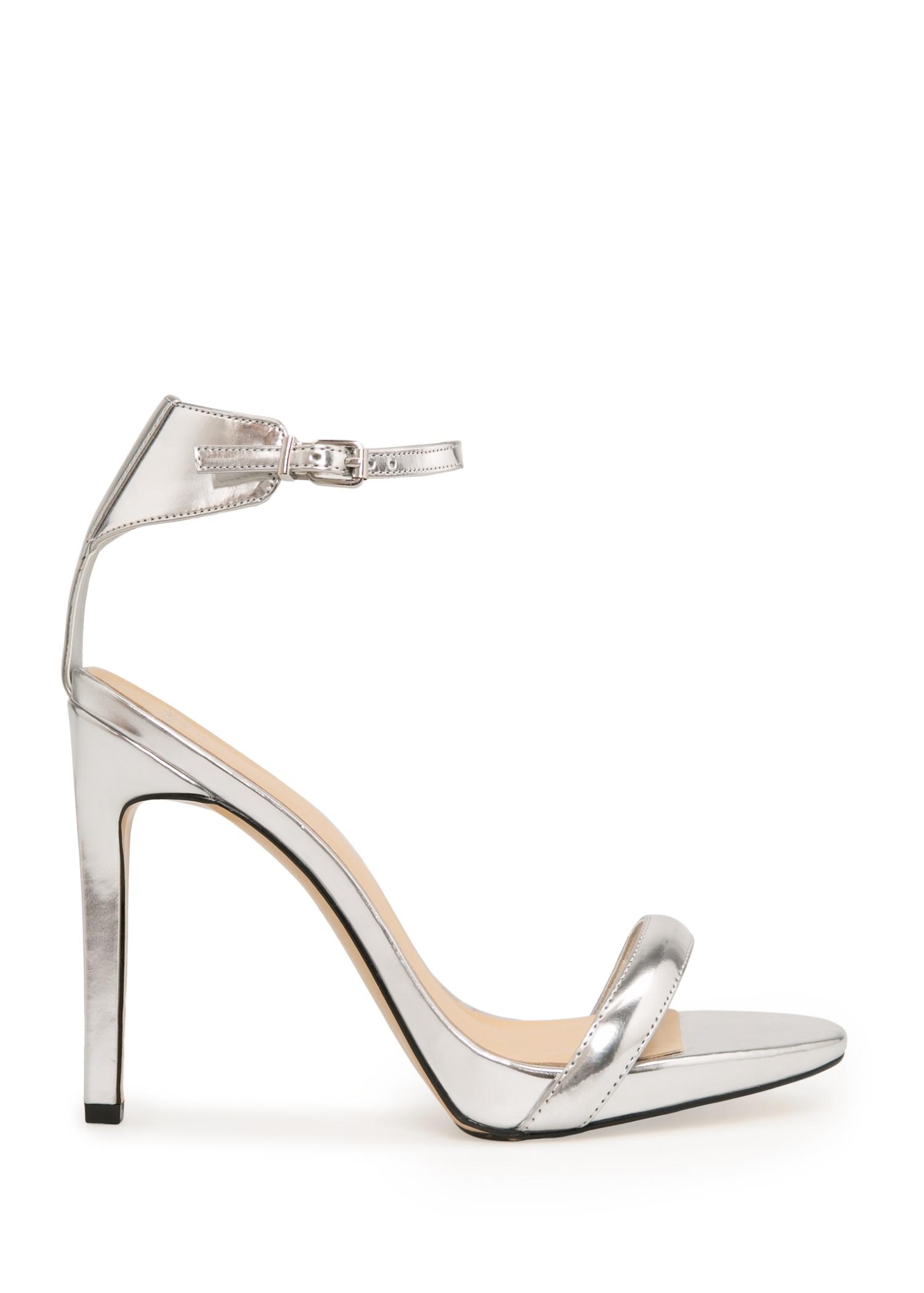 91a5a108200 Lyst - Mango Stiletto Heel Sandals in Metallic