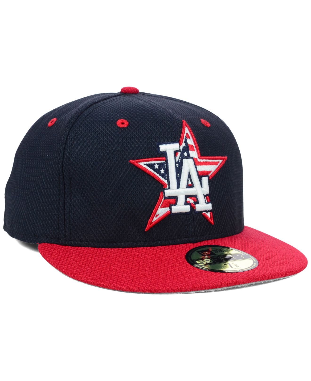 the best attitude d2afd b96a6 Lyst - KTZ Los Angeles Dodgers July 4th Stars   Stripes 59fifty Cap ...