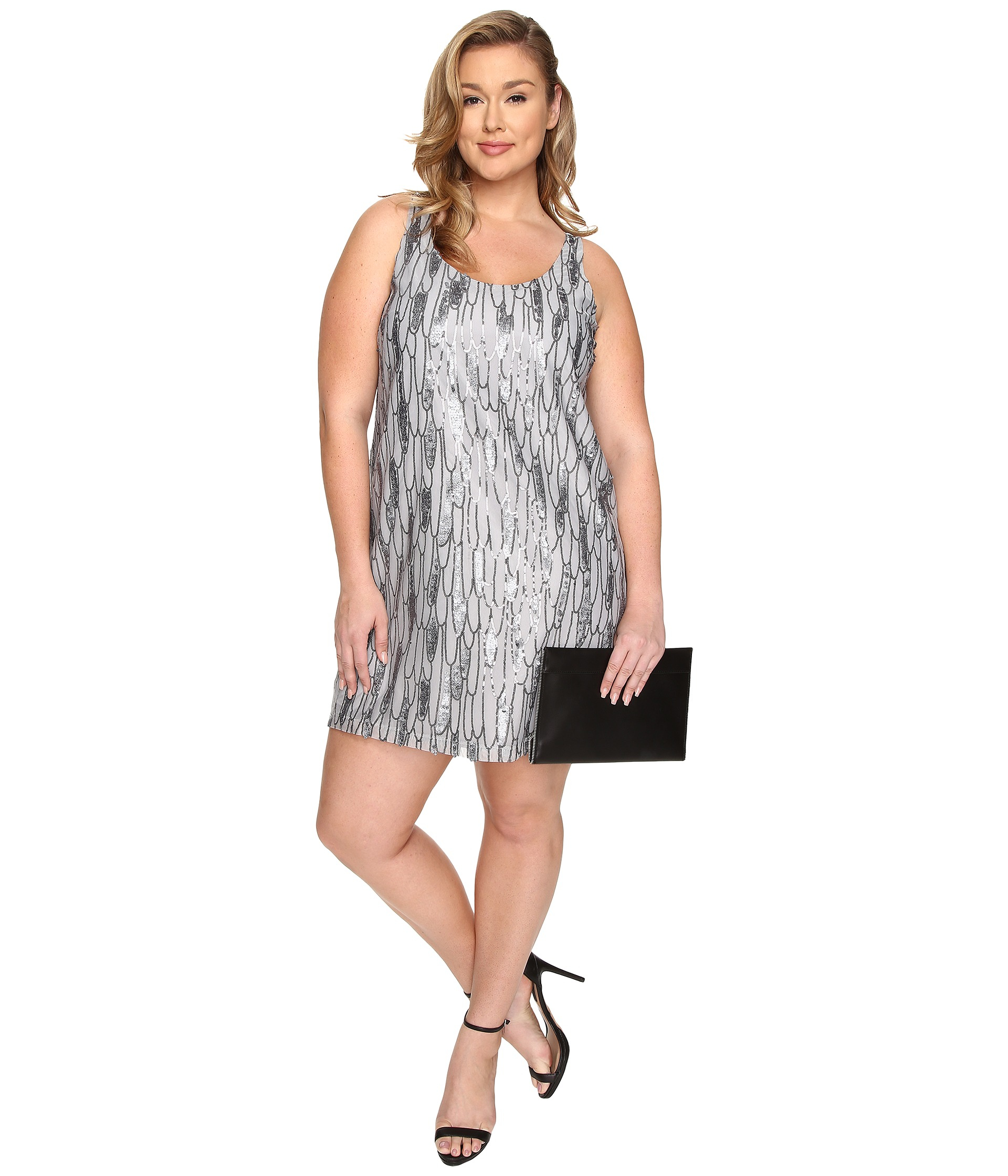 Plus Size Sequin Shift Dress – Fashion dresses