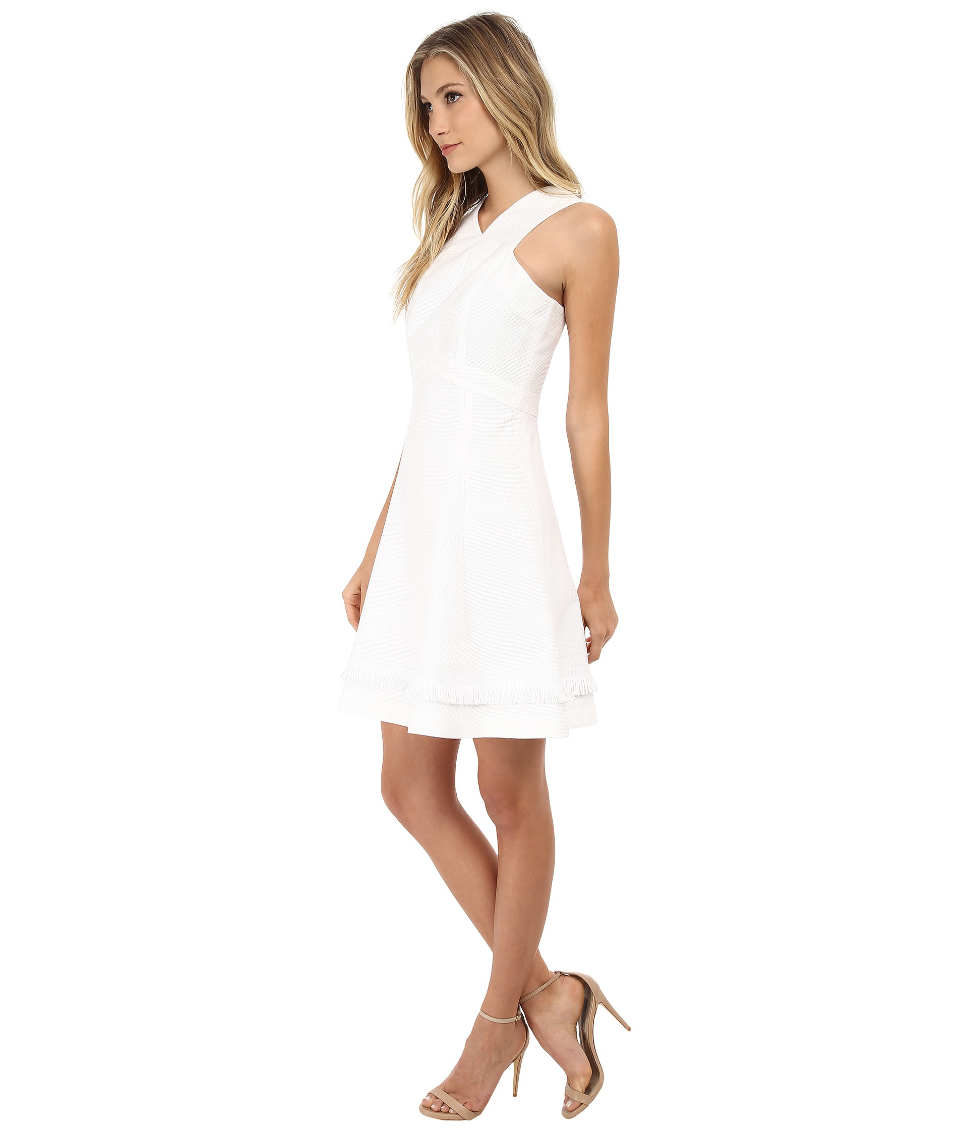 Shoshanna Junelle Dress in White | Lyst