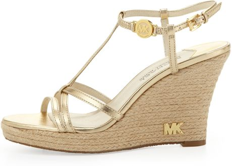 Michael Kors Gold Platform Sandals Gold Michael Michael Kors
