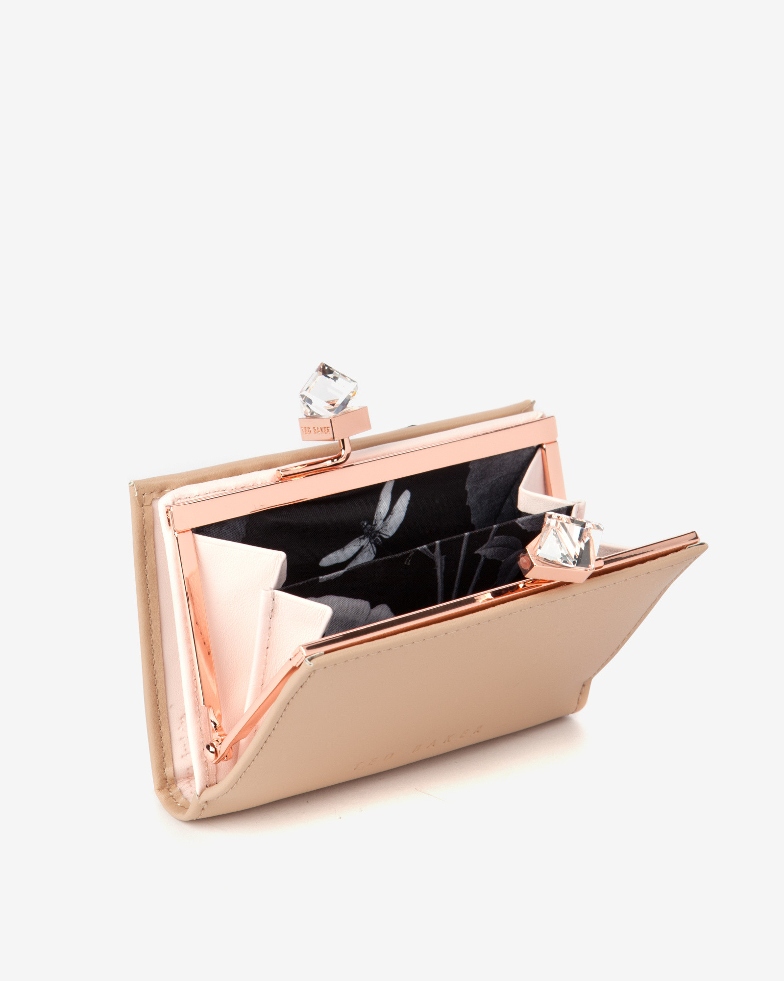 Nicole Miller Jewelry Box >> Ted baker Small Square Crystal Purse in Natural | Lyst