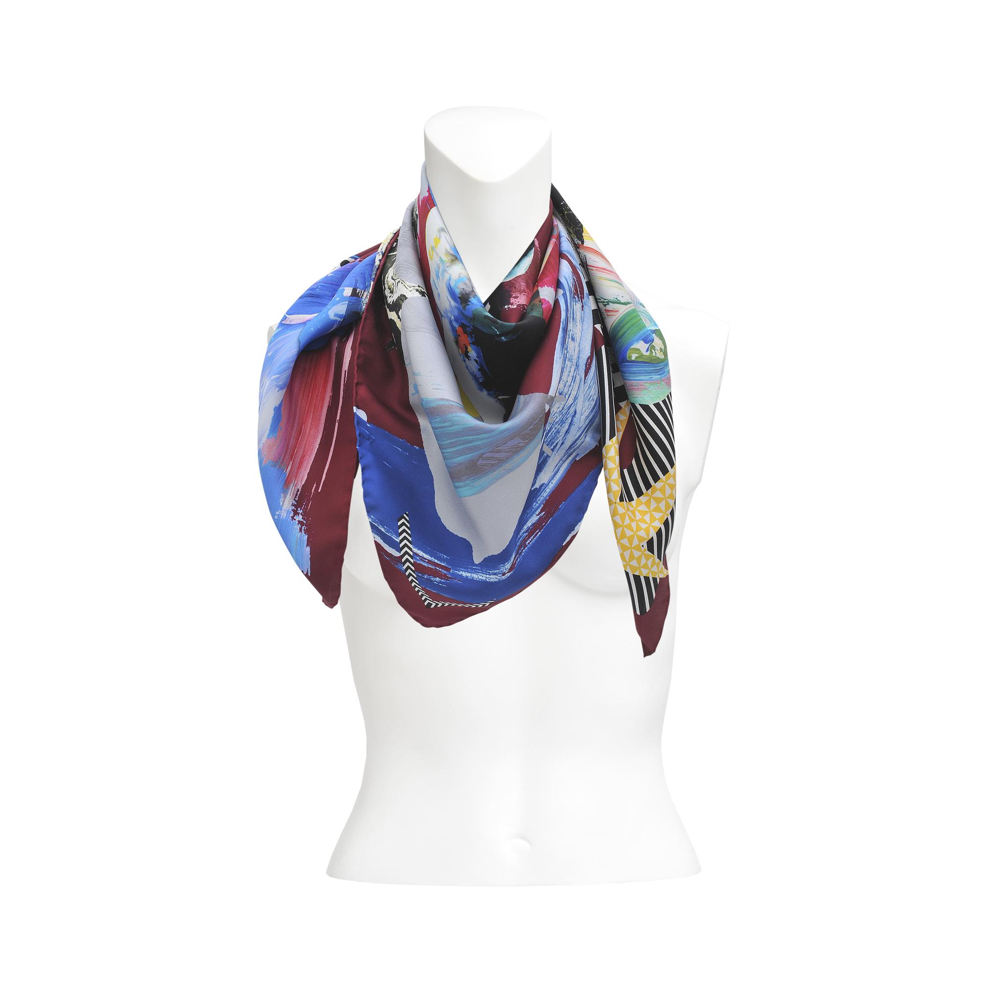 christian lacroix toro arty silk scarf 90x90 in multicolor