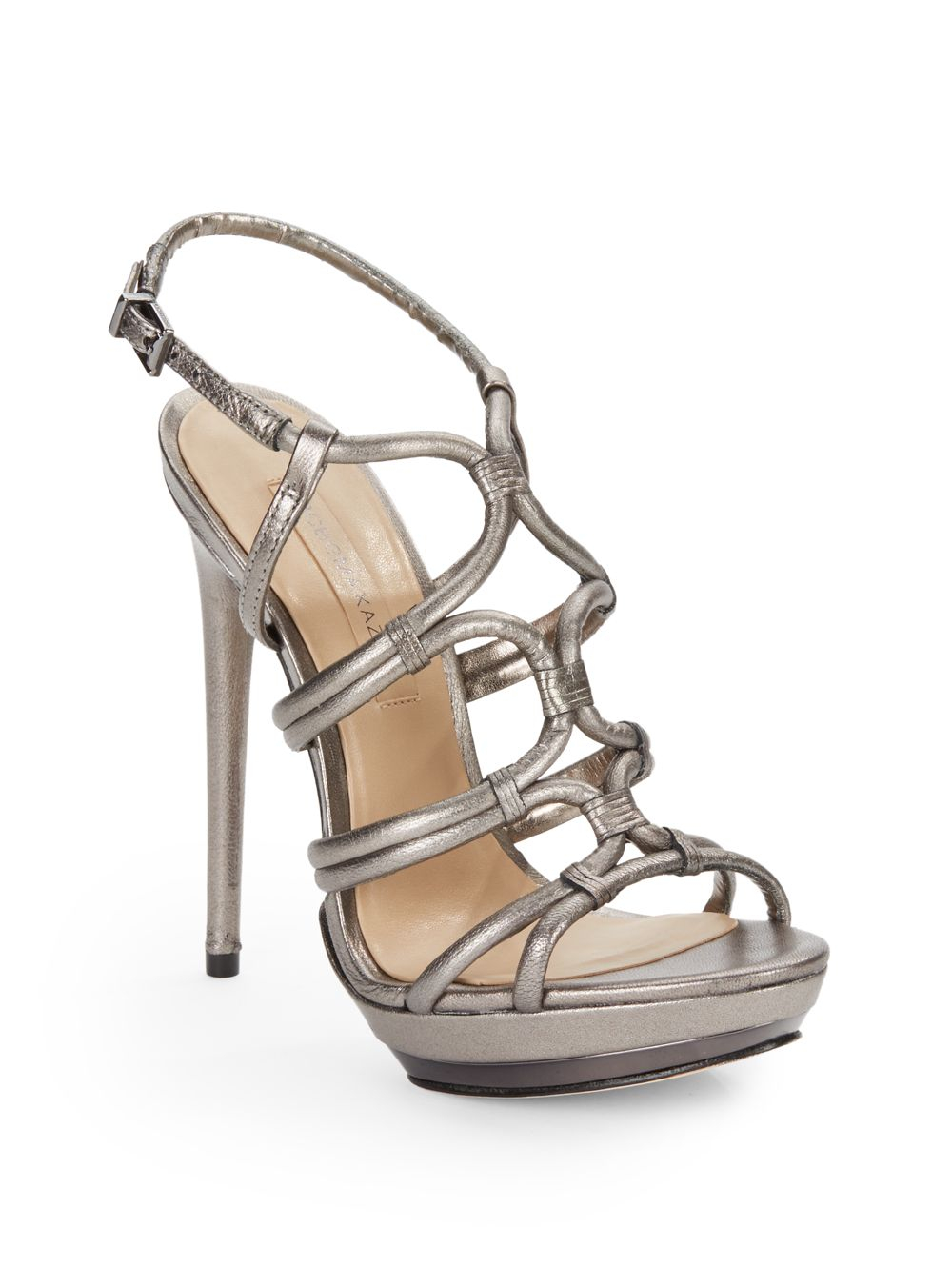 discount in China cheap marketable BCBG Max Azria Metallic Platform Sandals outlet for sale T2eiBcJ