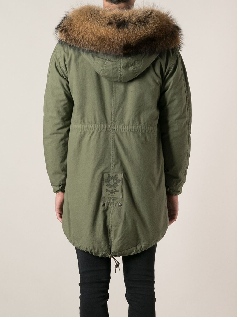 Lyst Mr Amp Mrs Italy Fur Trimmed Hood And Lining Coat In