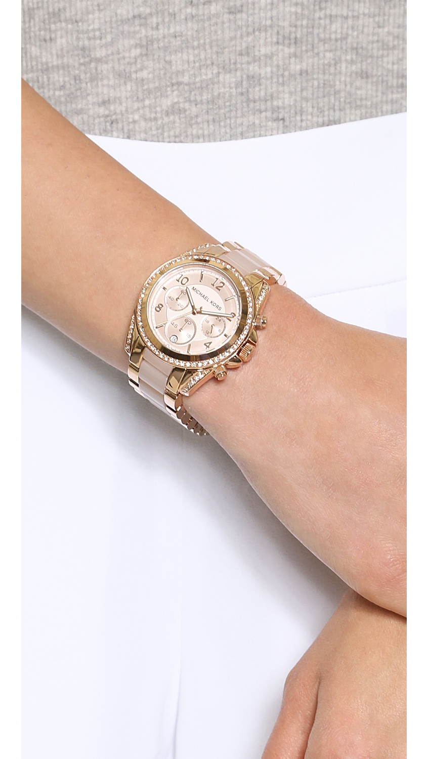 90a9fece0 Michael Kors Blair Rose Gold-Tone Chronograph Watch - HD Image ...