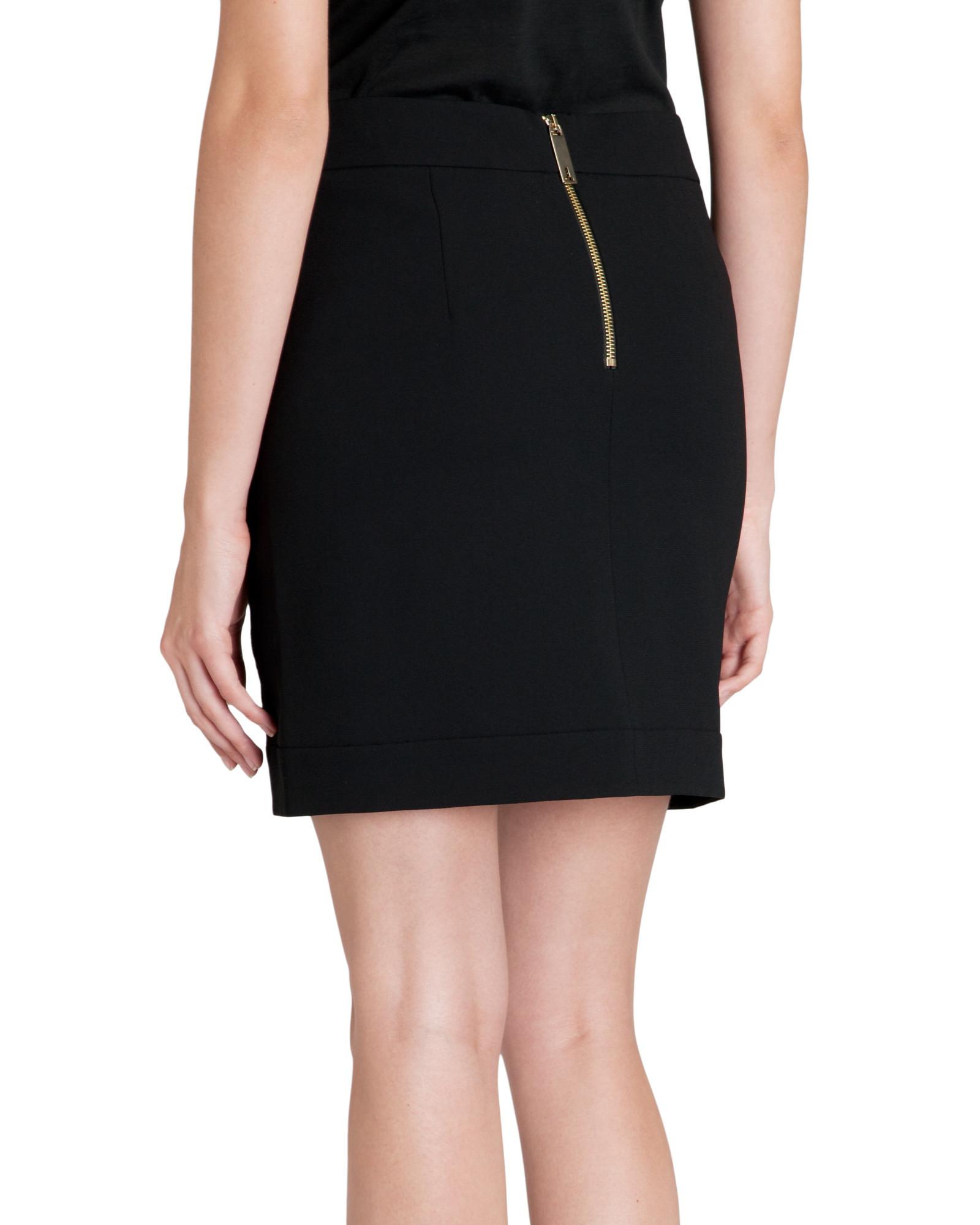 ted baker pony skin effect leather mini skirt in black lyst