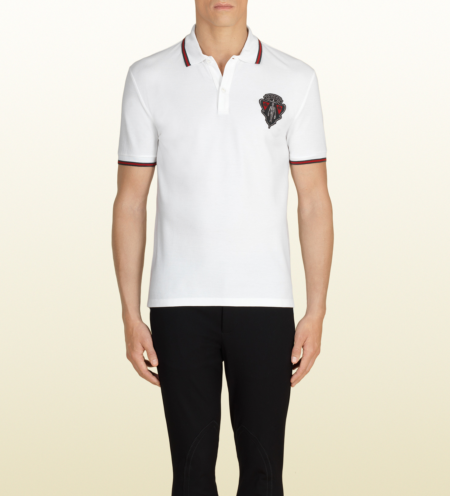 Lyst Gucci White Polo Shirt In White For Men