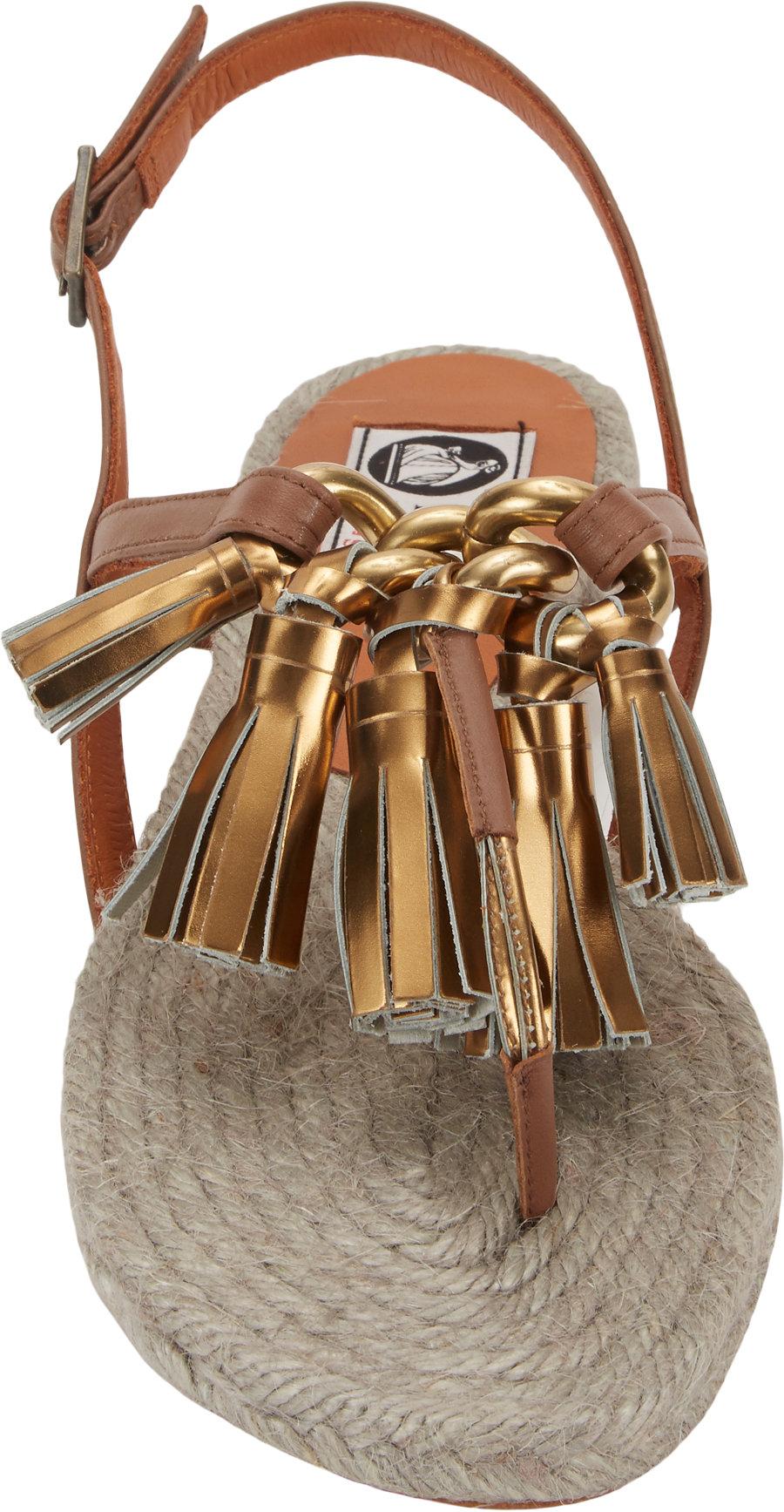 Lyst Lanvin Tassel Espadrille Sandals In Brown