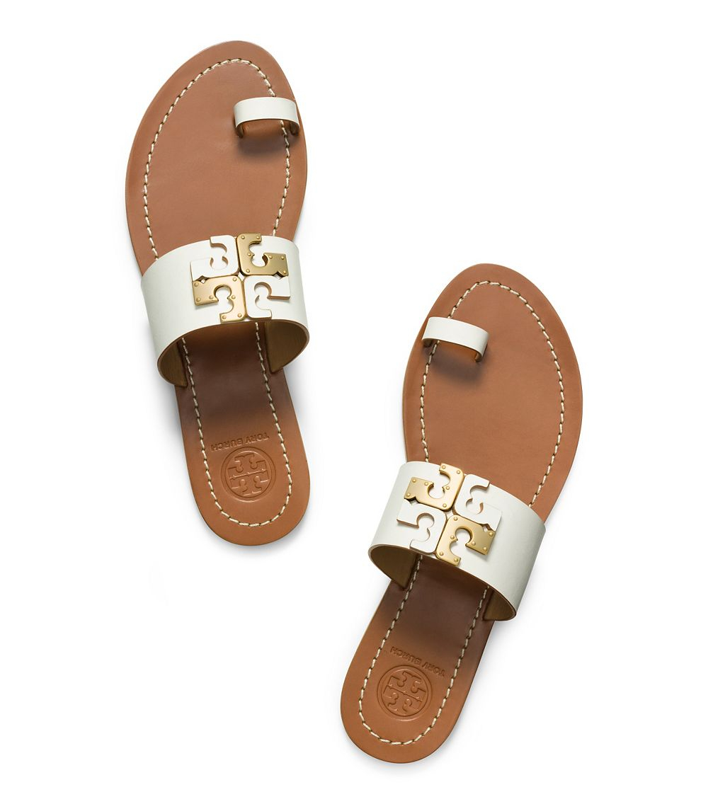 33229b7bc Lyst - Tory Burch Lowell Flat Slide in White