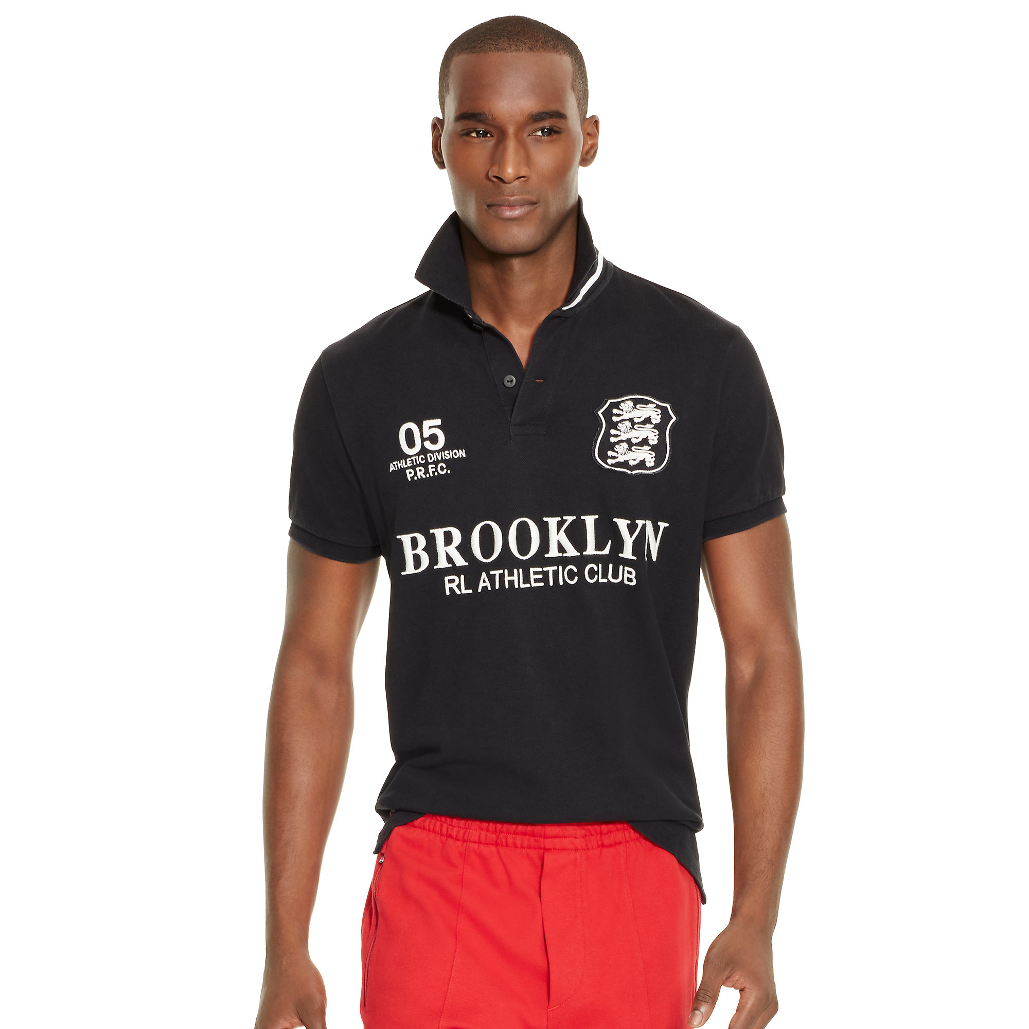 Lyst polo ralph lauren custom fit brooklyn polo shirt in for Man in polo shirt