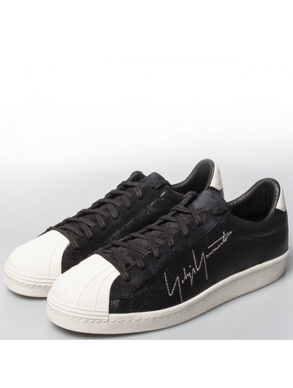 11d87846a Yohji Yamamoto Yy Metallic Leather Superstar Sneakers Black in Black ...