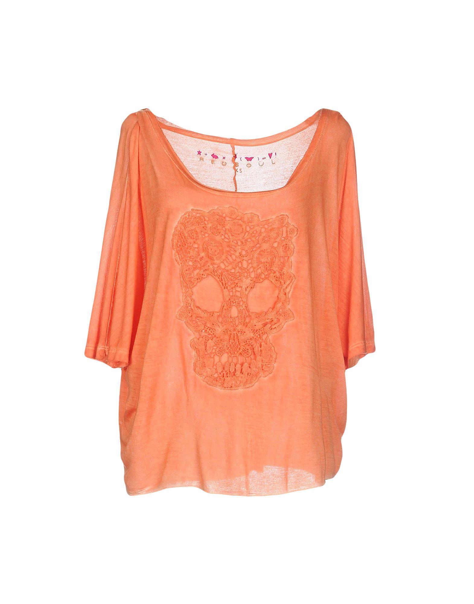 Red Soul T Shirt In Orange Lyst