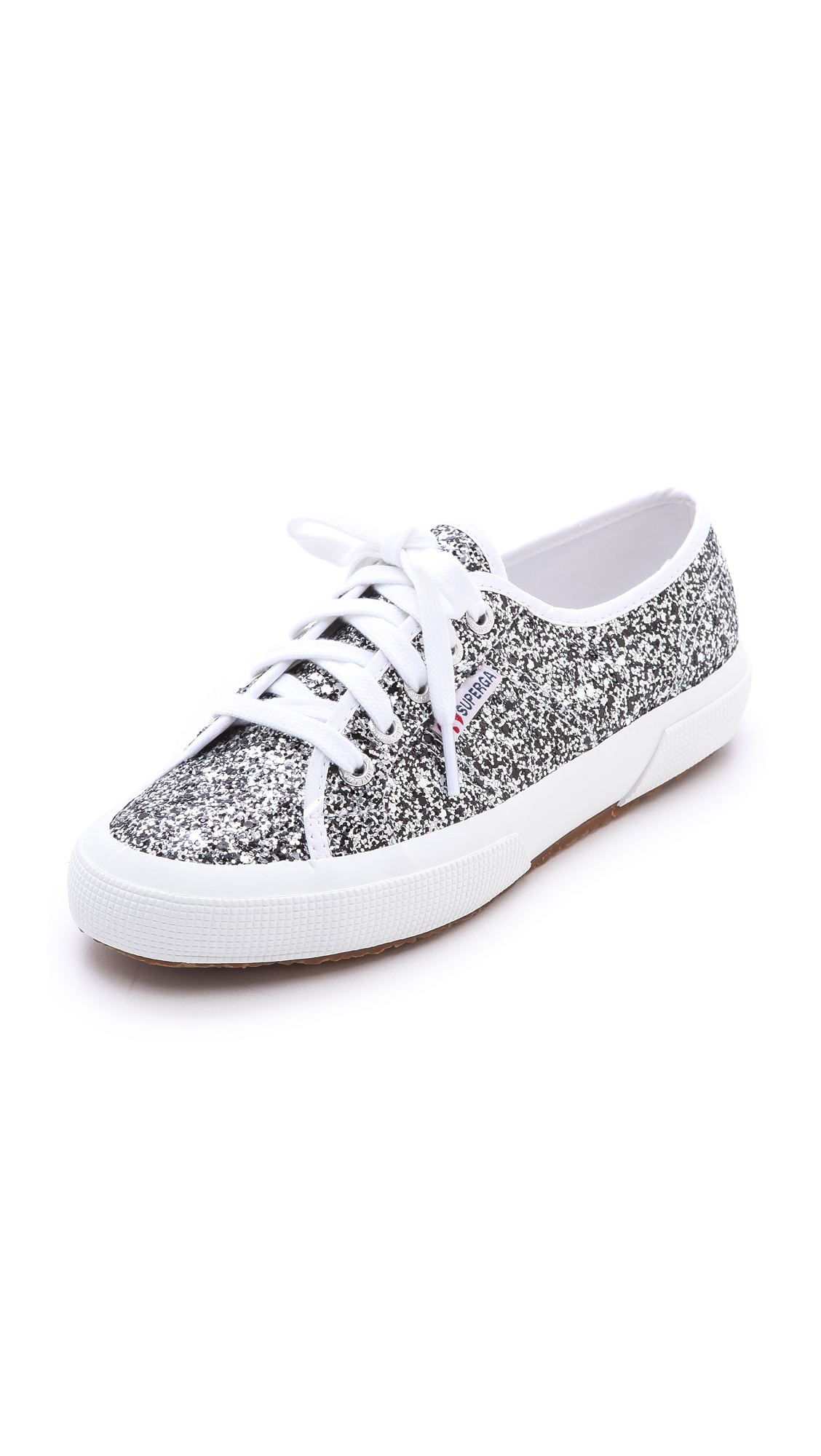 superga glitter sneakers multi in silver lyst. Black Bedroom Furniture Sets. Home Design Ideas