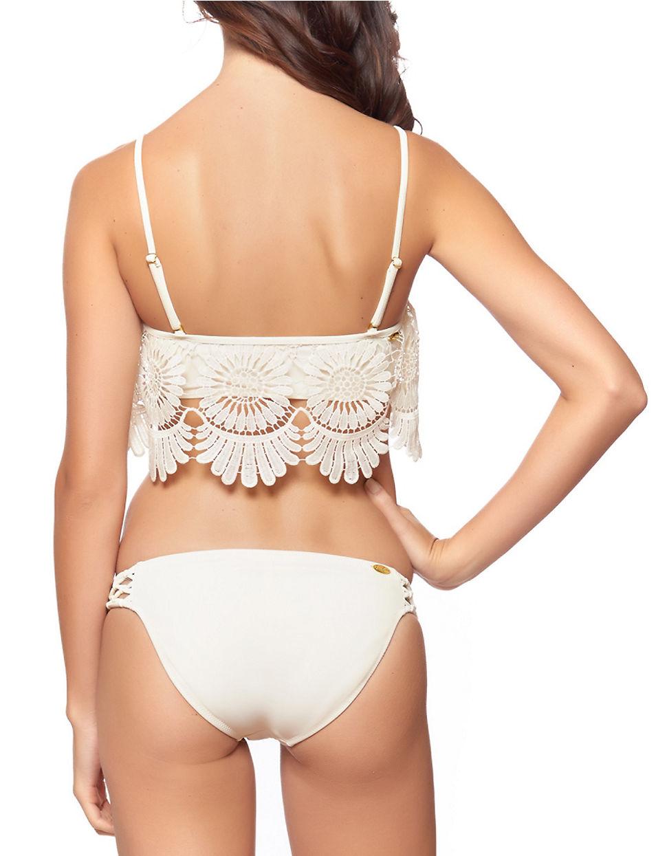 Jessica Simpson Flower Power Bikini Top In White Lyst