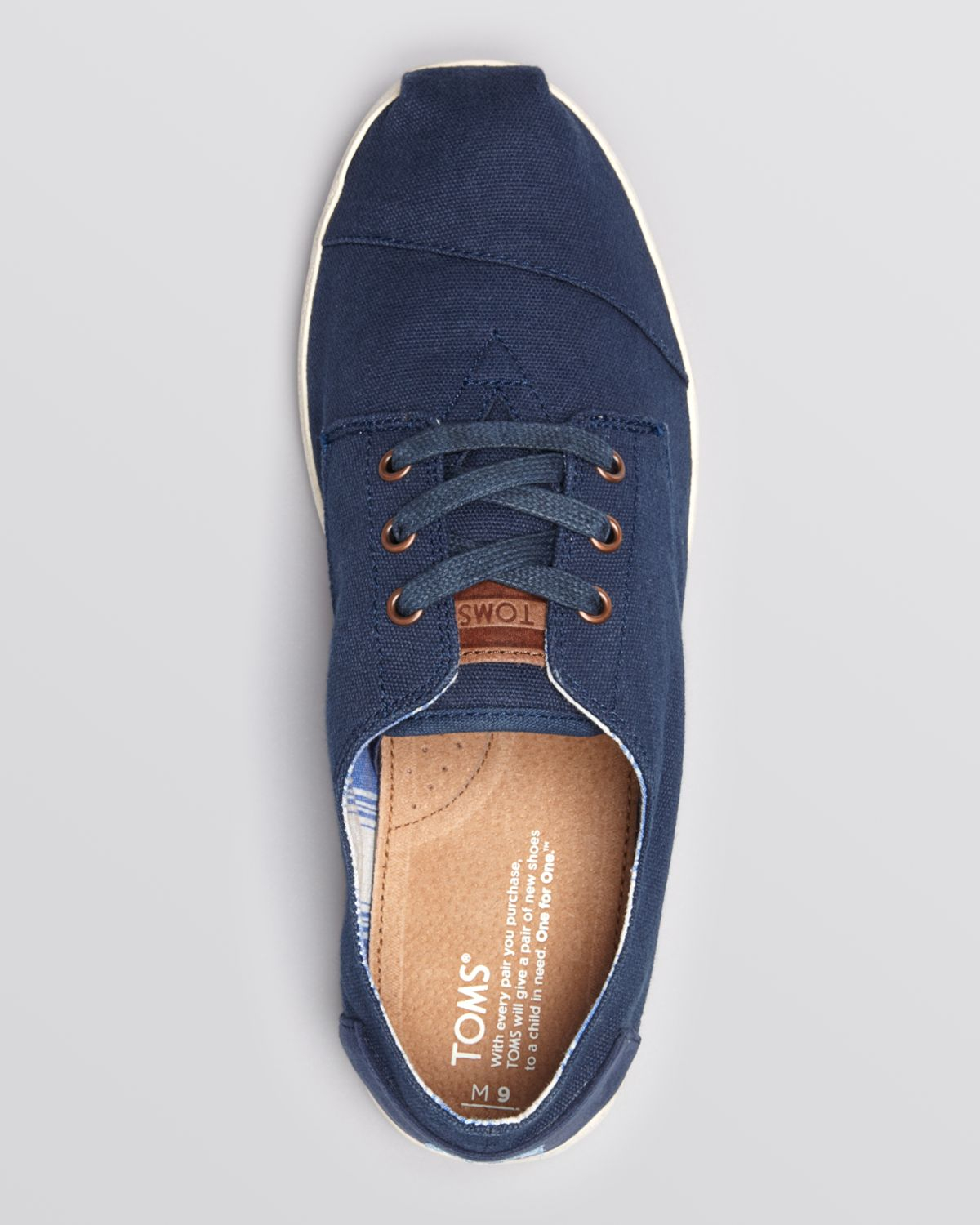 b4bcffa22af Lyst - TOMS Paseo Canvas Lace-Up Sneakers in Blue for Men