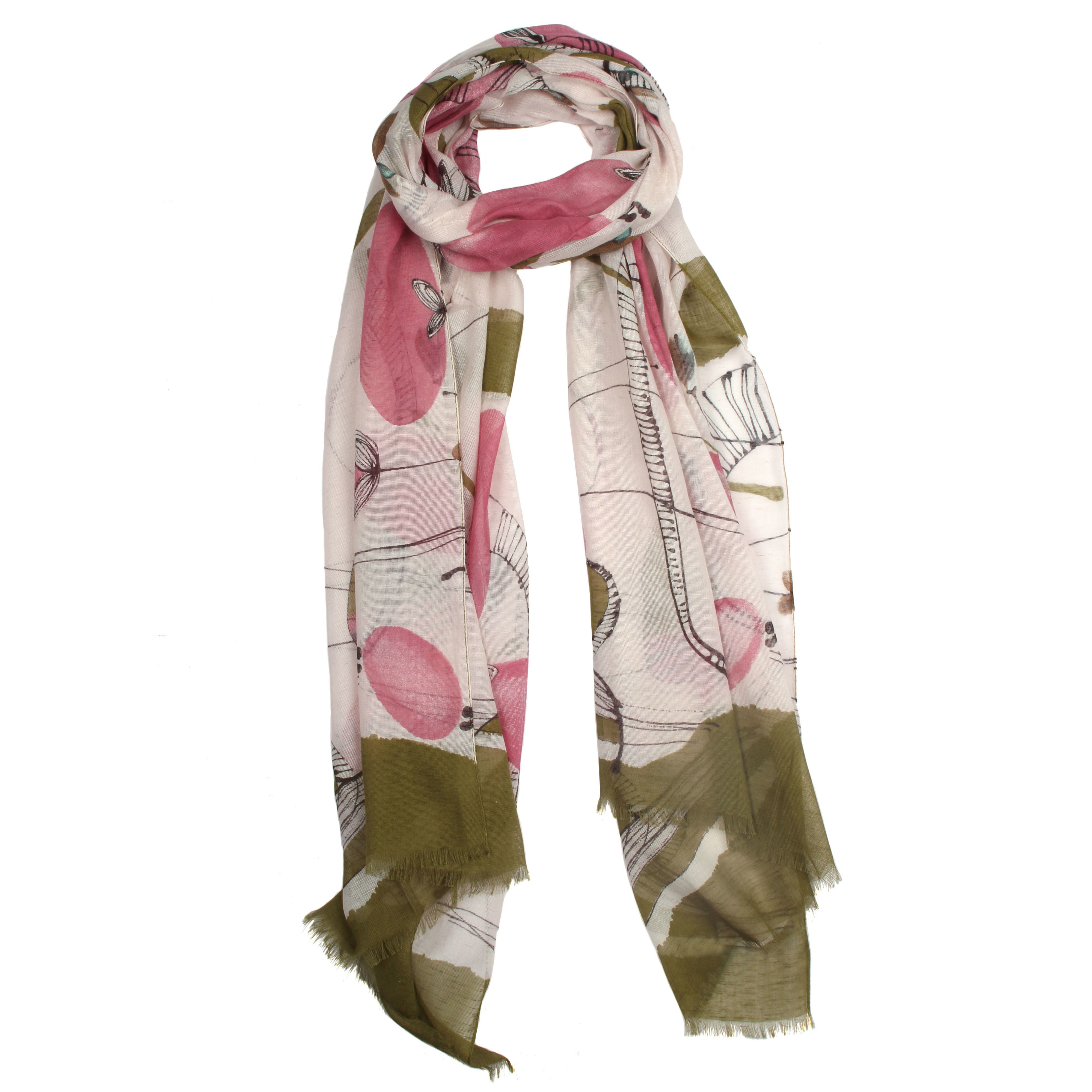 dents abstract print block colour scarf lyst