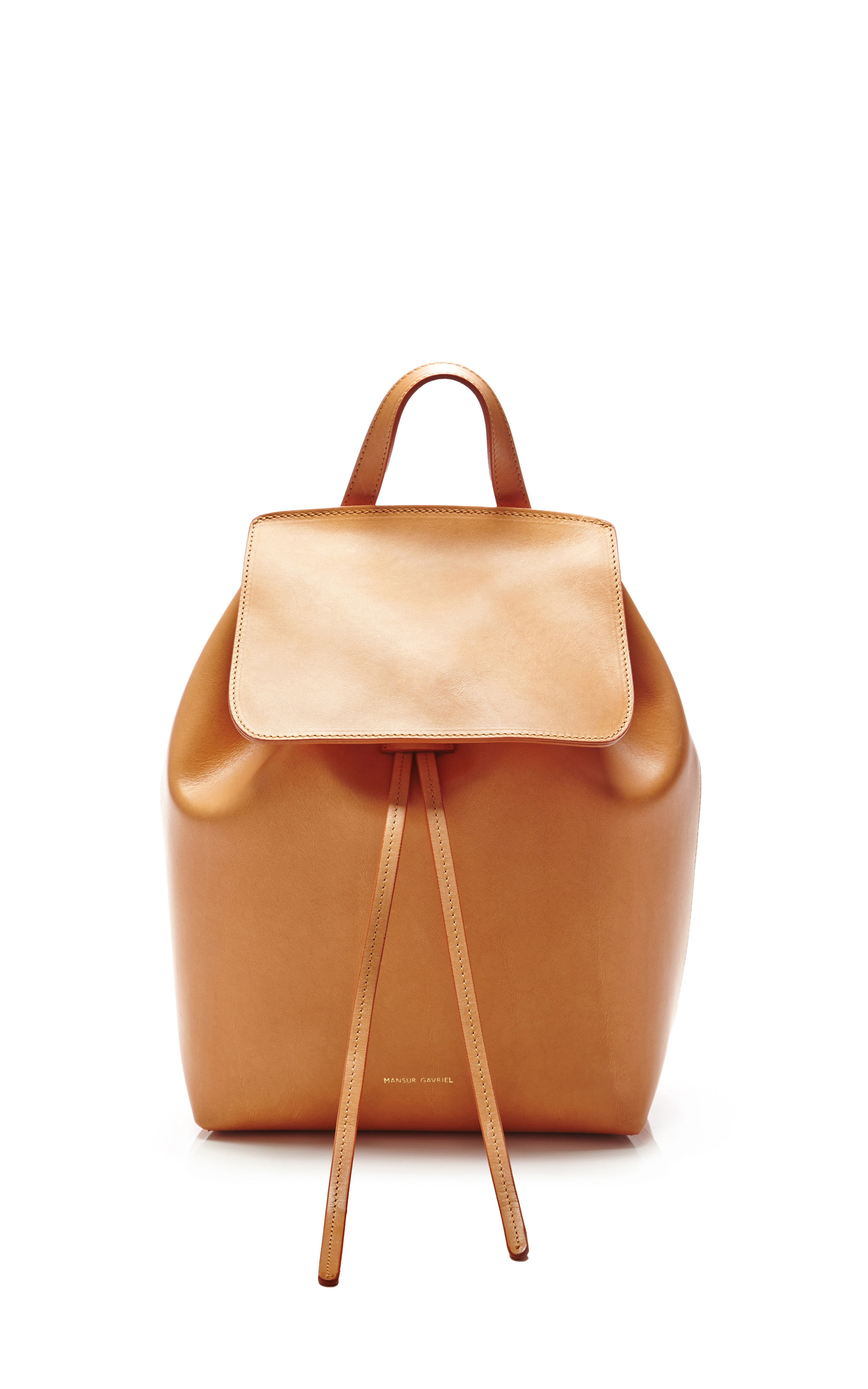 Mansur gavriel Mini Backpack in Camello with Orange in Natural | Lyst