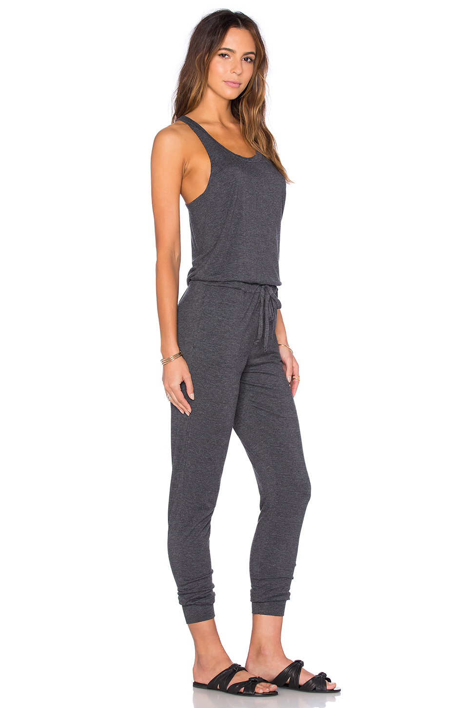 34a79d74ab44 Lyst - Spiritual Gangster Racerback Jumpsuit in Gray
