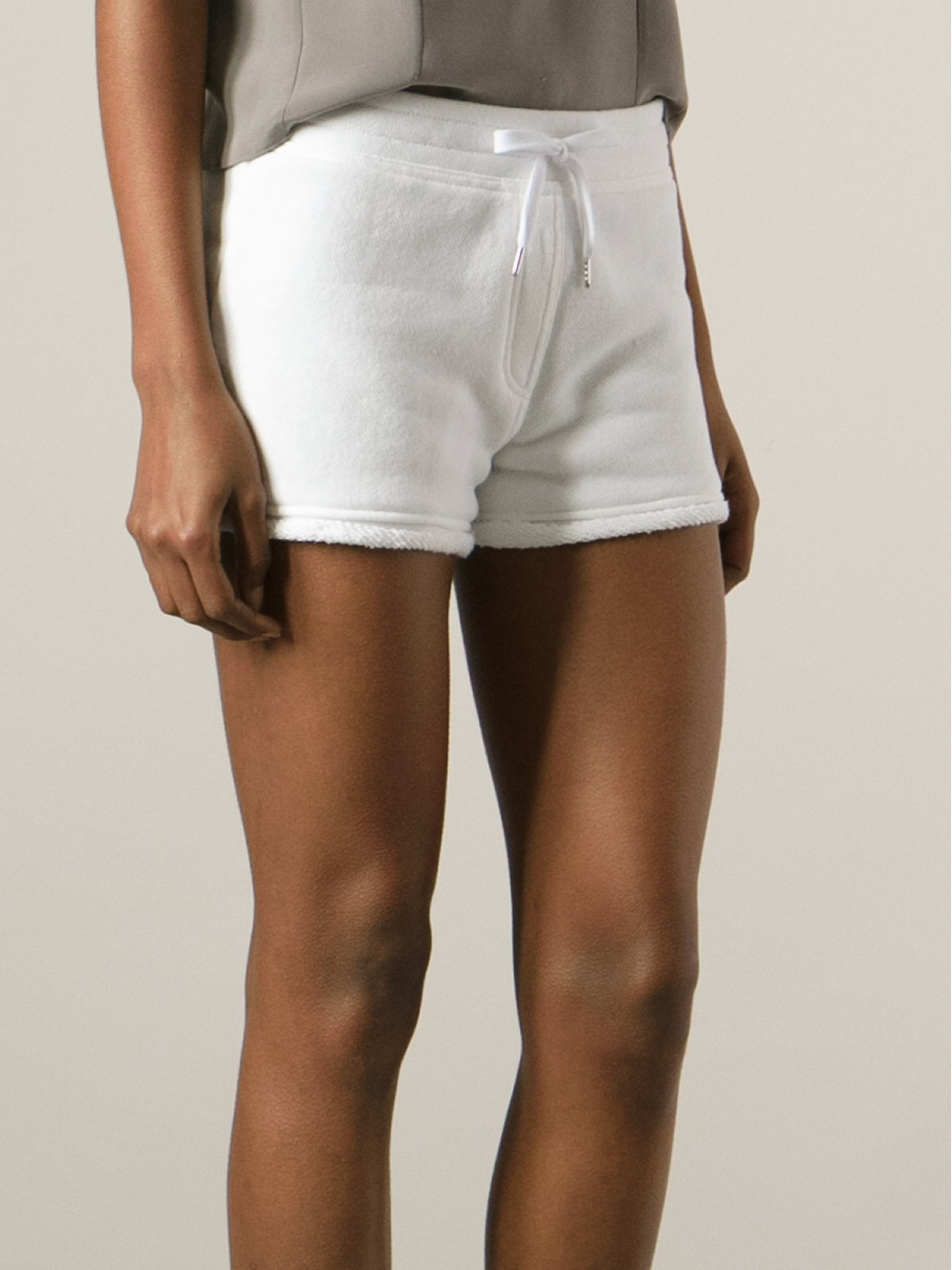 Lyst T By Alexander Wang French Terry Drawstring Shorts