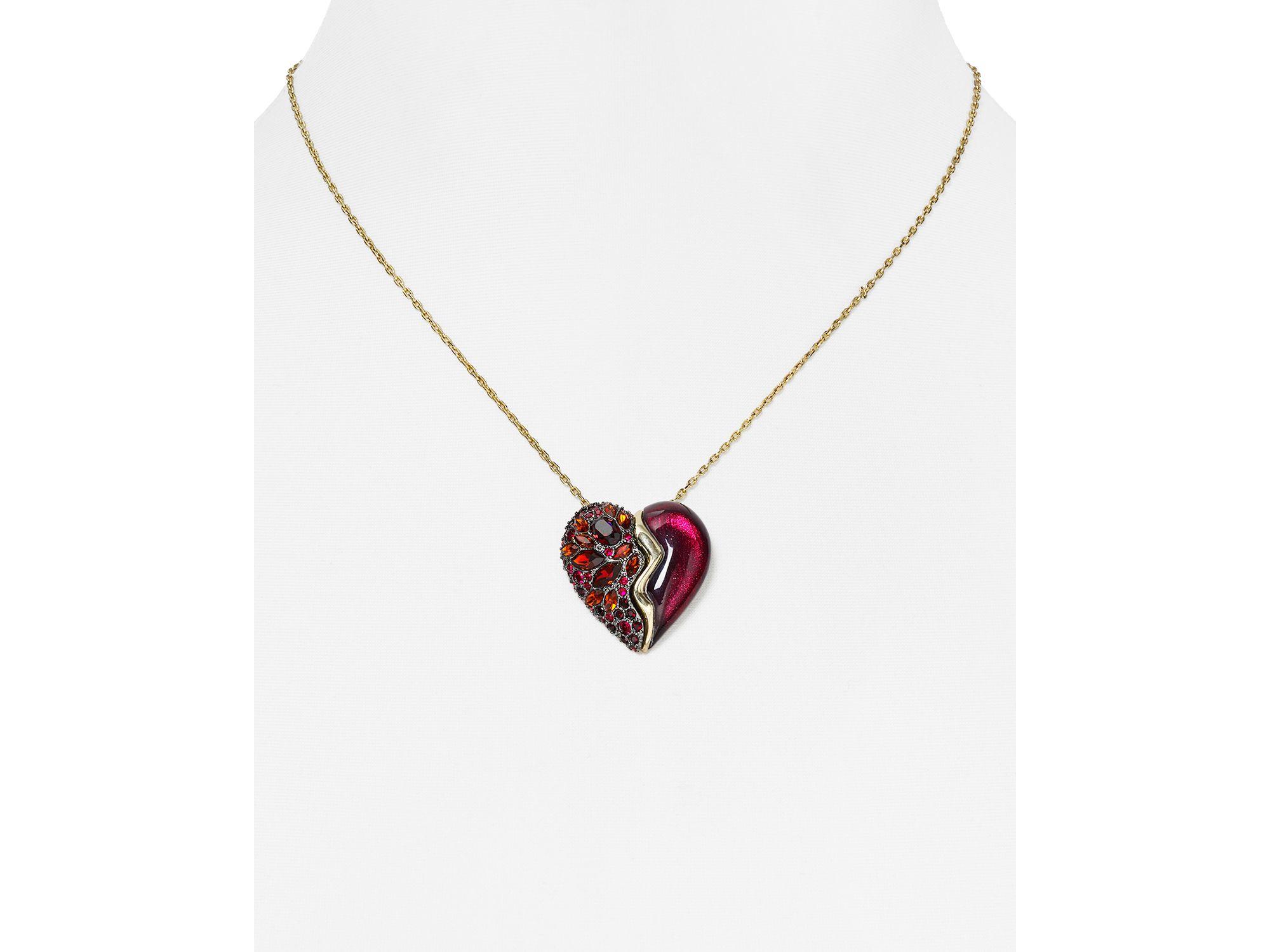 bittar lucite broken pendant necklace 16 quot in