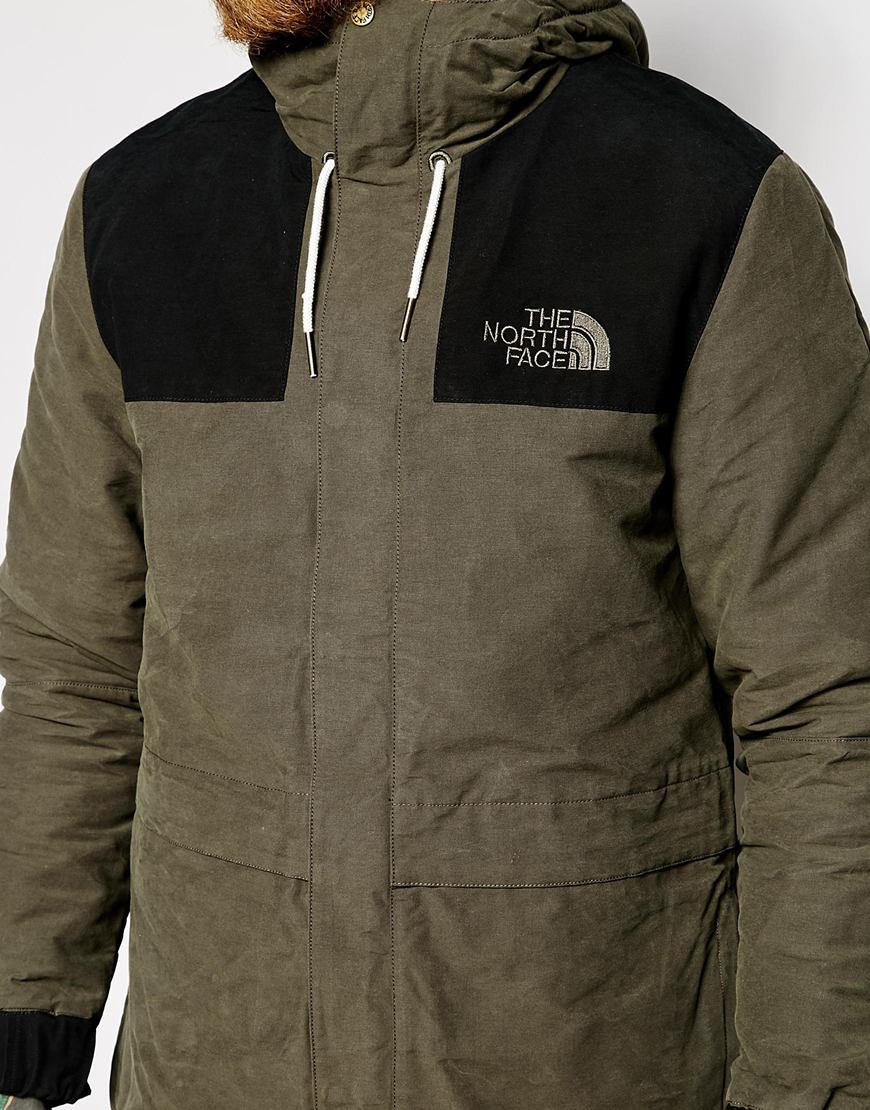 the north face 1985 sherpa mountain parka in green for men. Black Bedroom Furniture Sets. Home Design Ideas