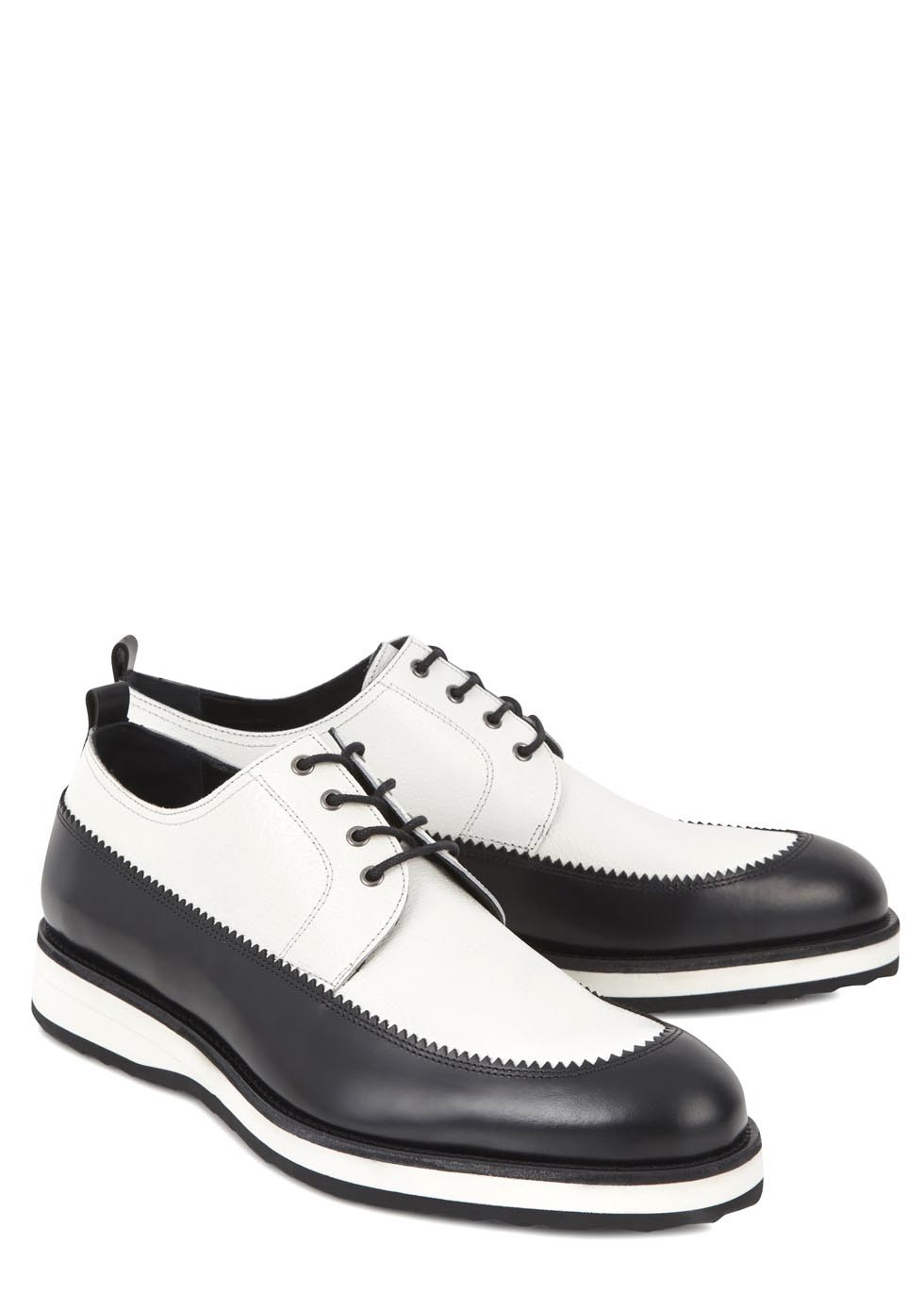 pierre hardy mens hairy calf print derby shoes in white for men lyst. Black Bedroom Furniture Sets. Home Design Ideas