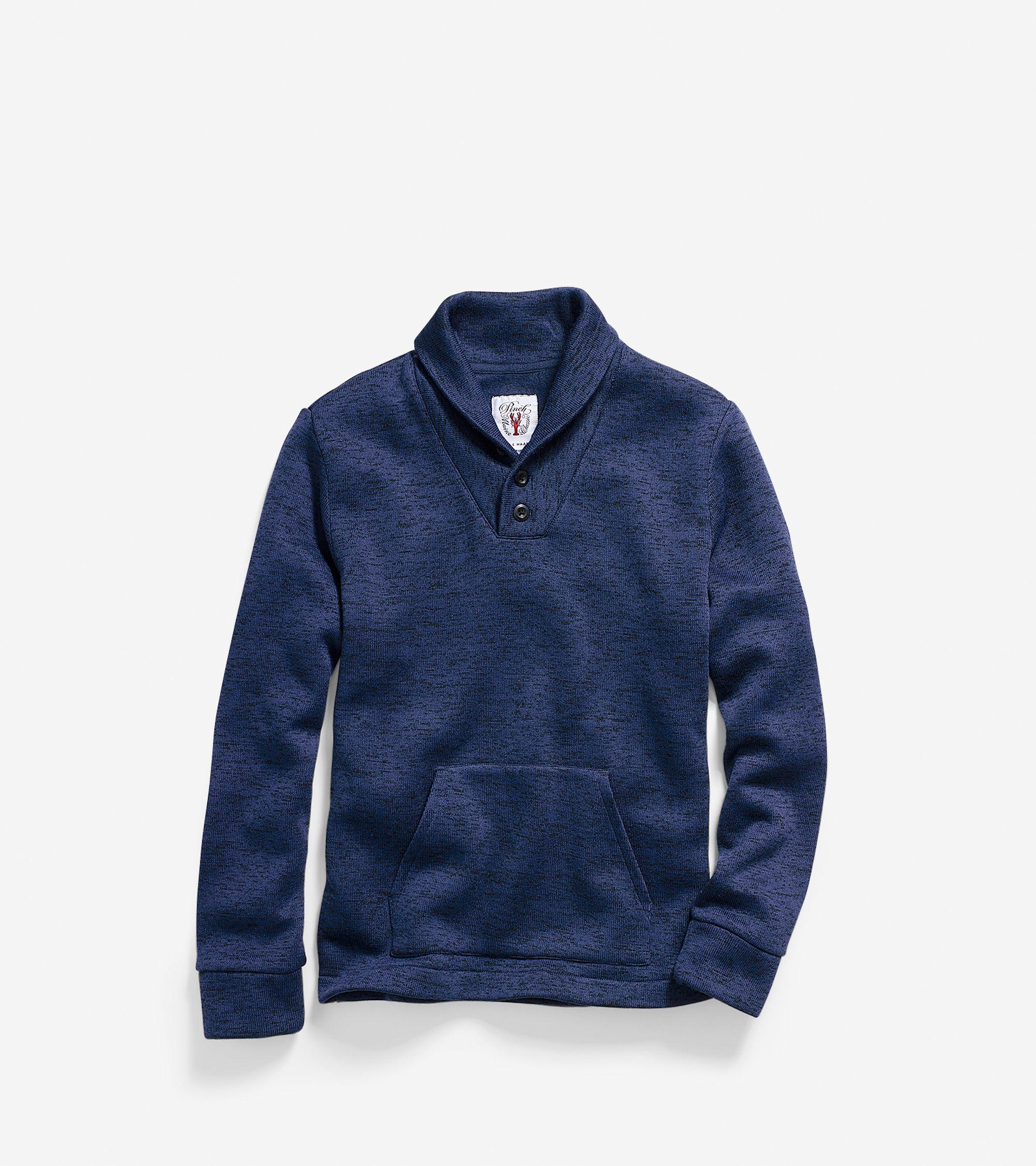 Cole haan Men's Pinch Tech Fleece Sweatshirt in Blue for Men | Lyst