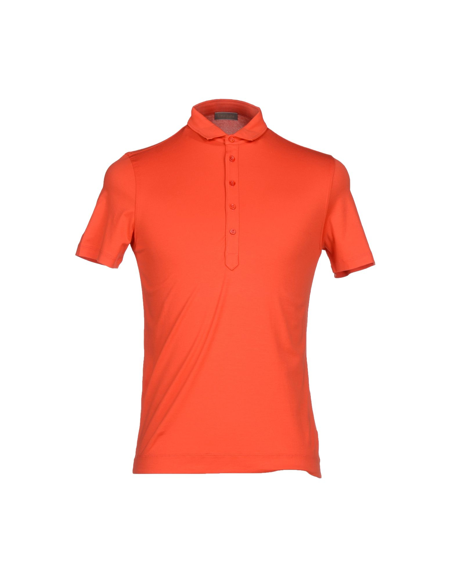 Cruciani polo shirt in orange for men coral lyst for Coral shirts for guys