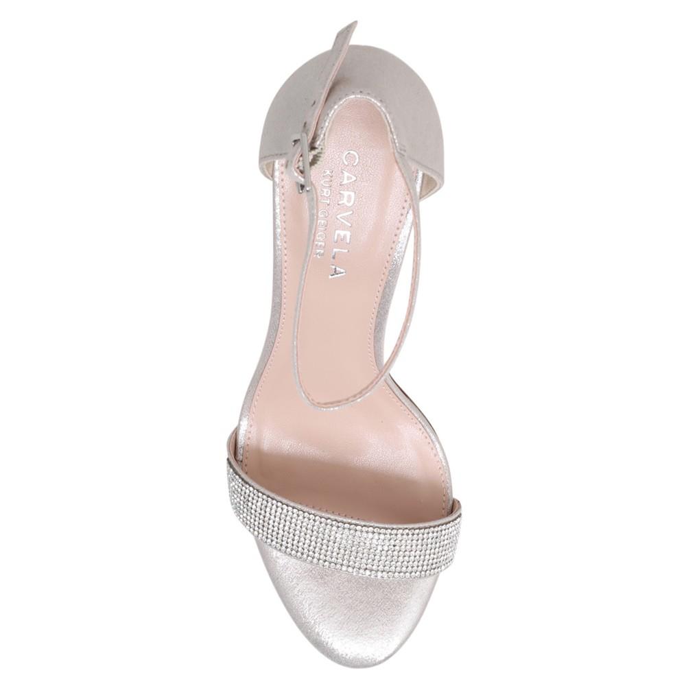 b0e5917097 Carvela Kurt Geiger Kiwi Barely There High Heel Sandals in Metallic ...