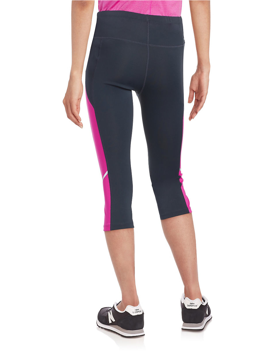 New balance Cropped Leggings in Pink   Lyst
