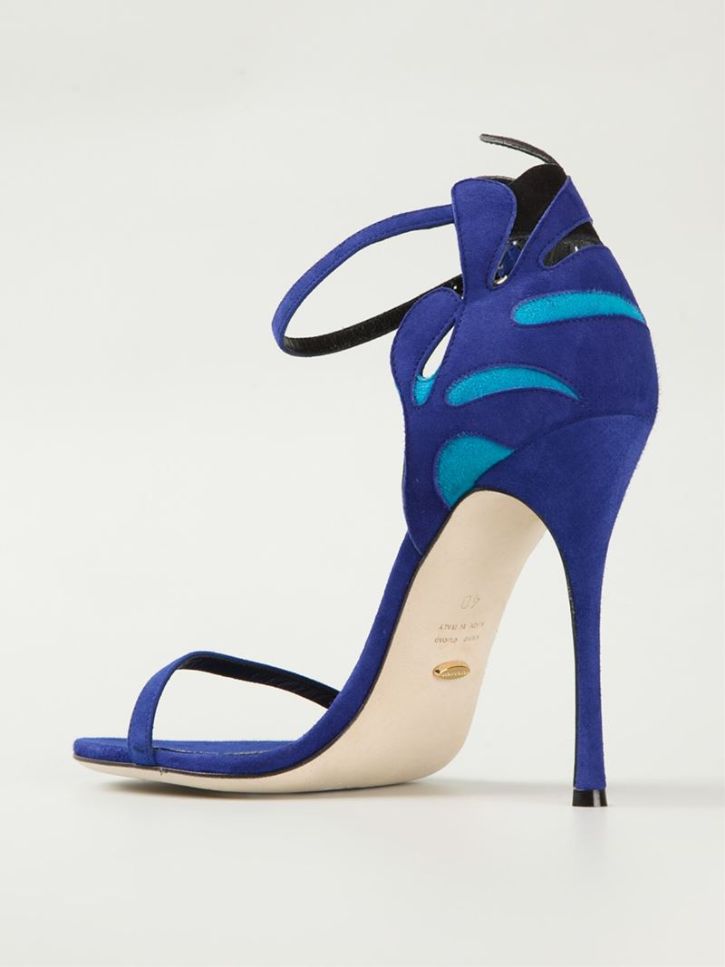 Sergio Rossi Embelli Sandales - Bleu 2INzFl6