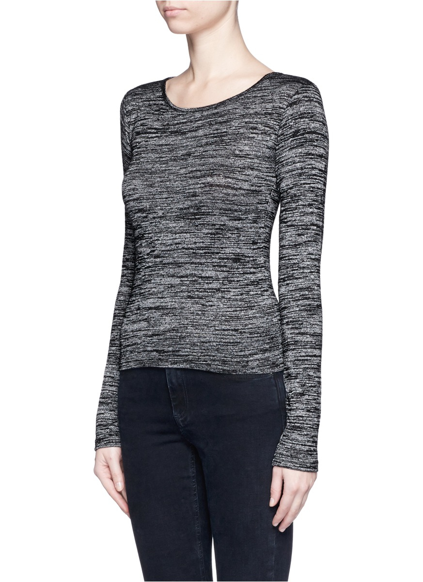Lyst rag bone 39 twist 39 long sleeve jersey t shirt in gray for Rag bone shirt