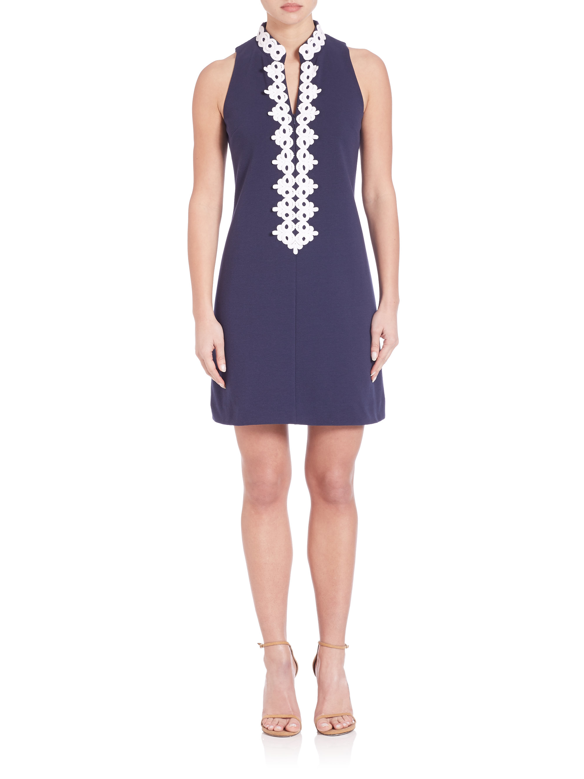 Lyst - Lilly Pulitzer Callista Lace-detail Shift Dress in Blue