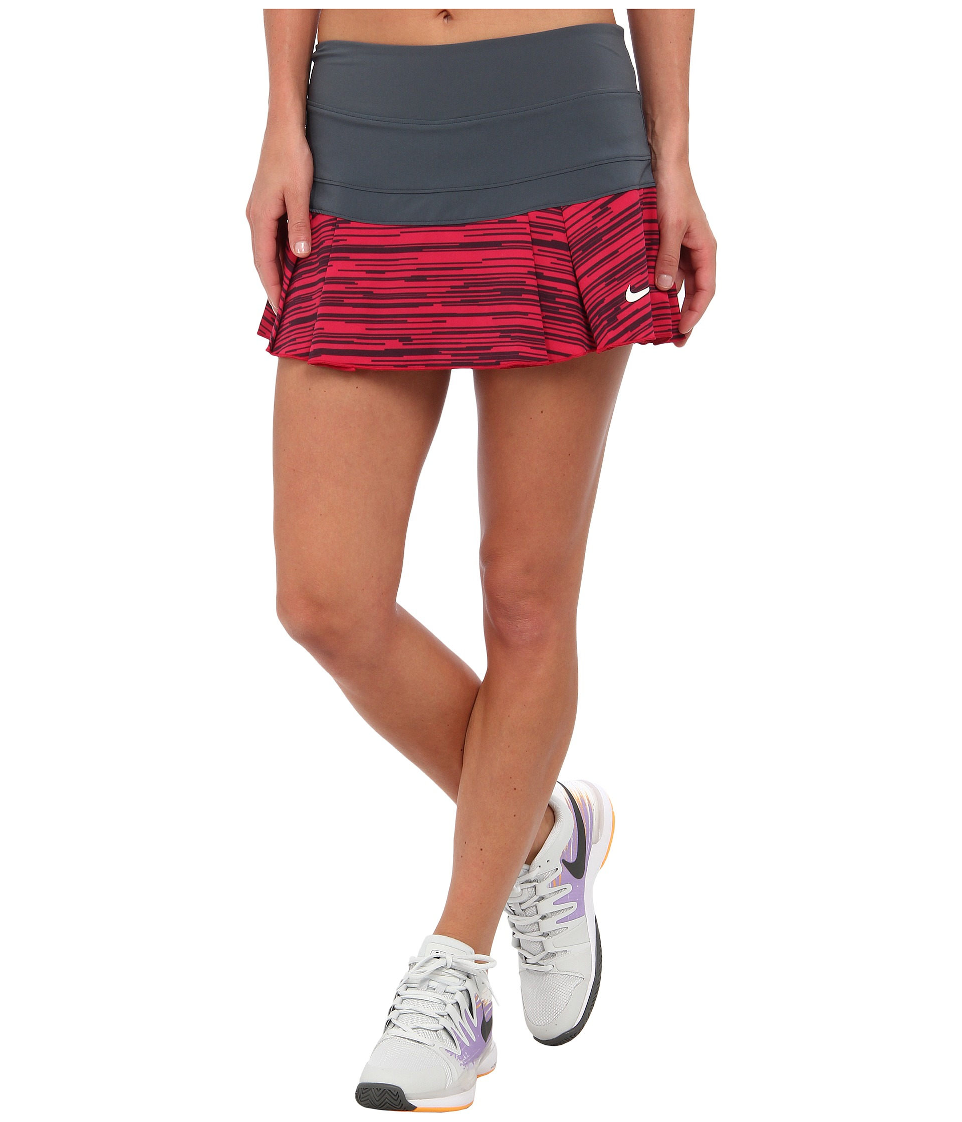 31edc446d3 Nike Victory Printed Pleated Skirt in Gray - Lyst