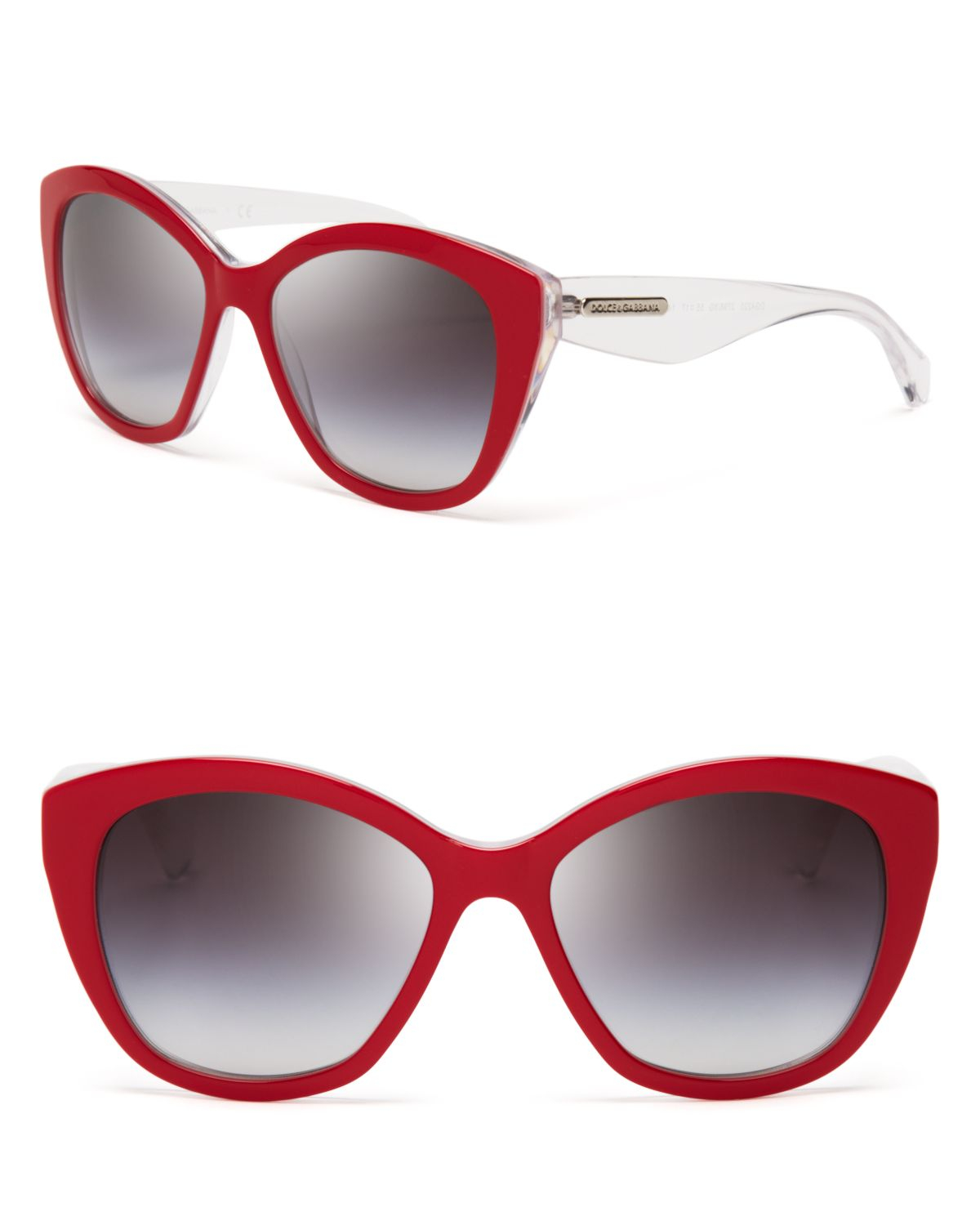 Dolce Gabbana Cat Eye Sunglasses  dolce gabbana cat eye sunglasses in red lyst