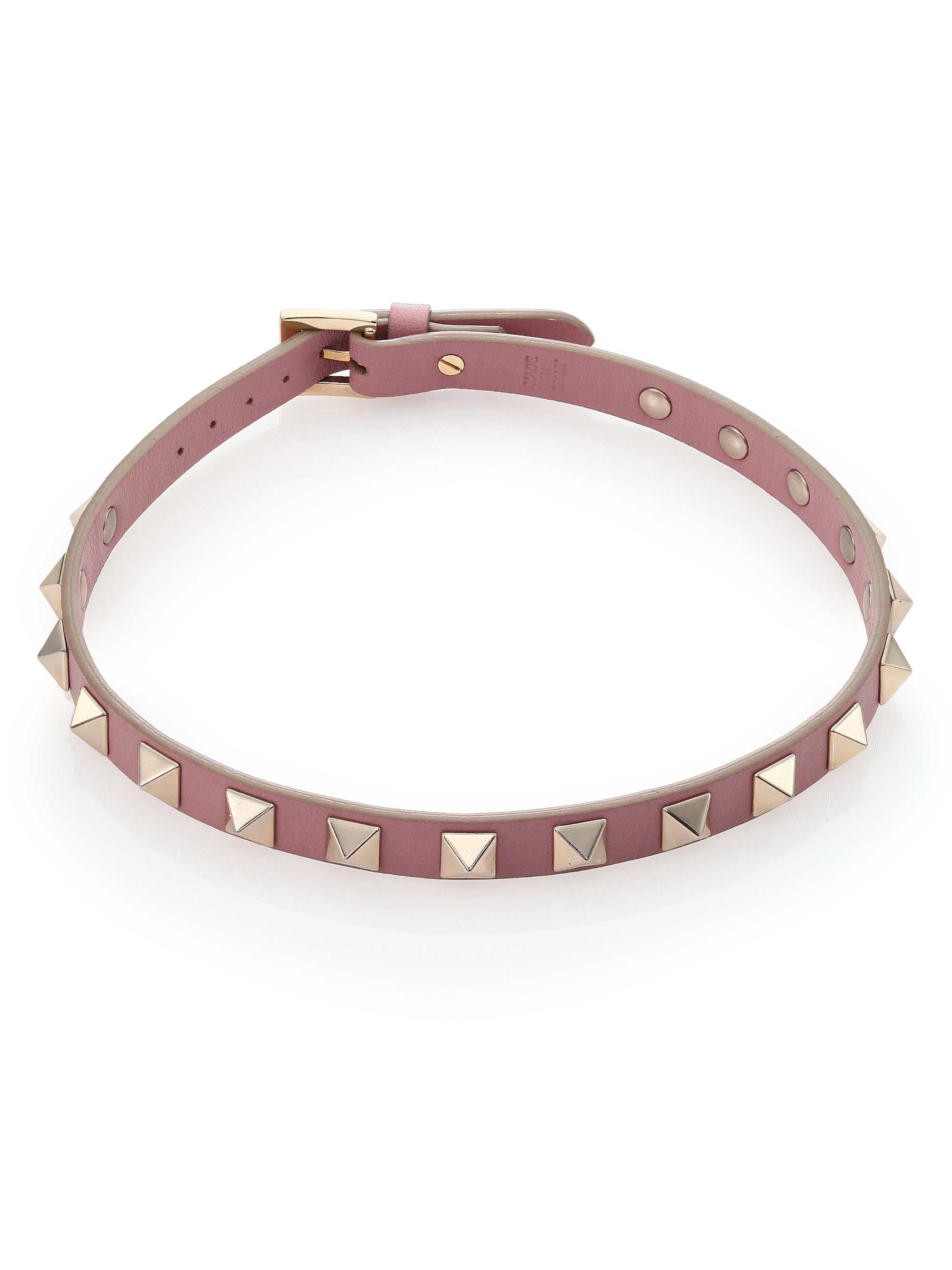 valentino rockstud leather convertible choker necklace