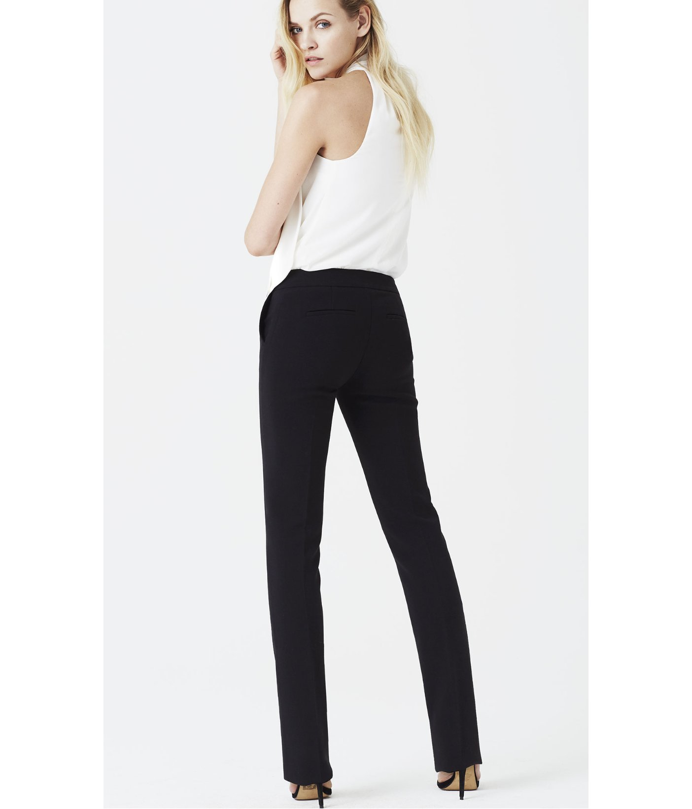 Express Hollywood Waistband Trouser Pant in Black (PITCH BLACK) | Lyst