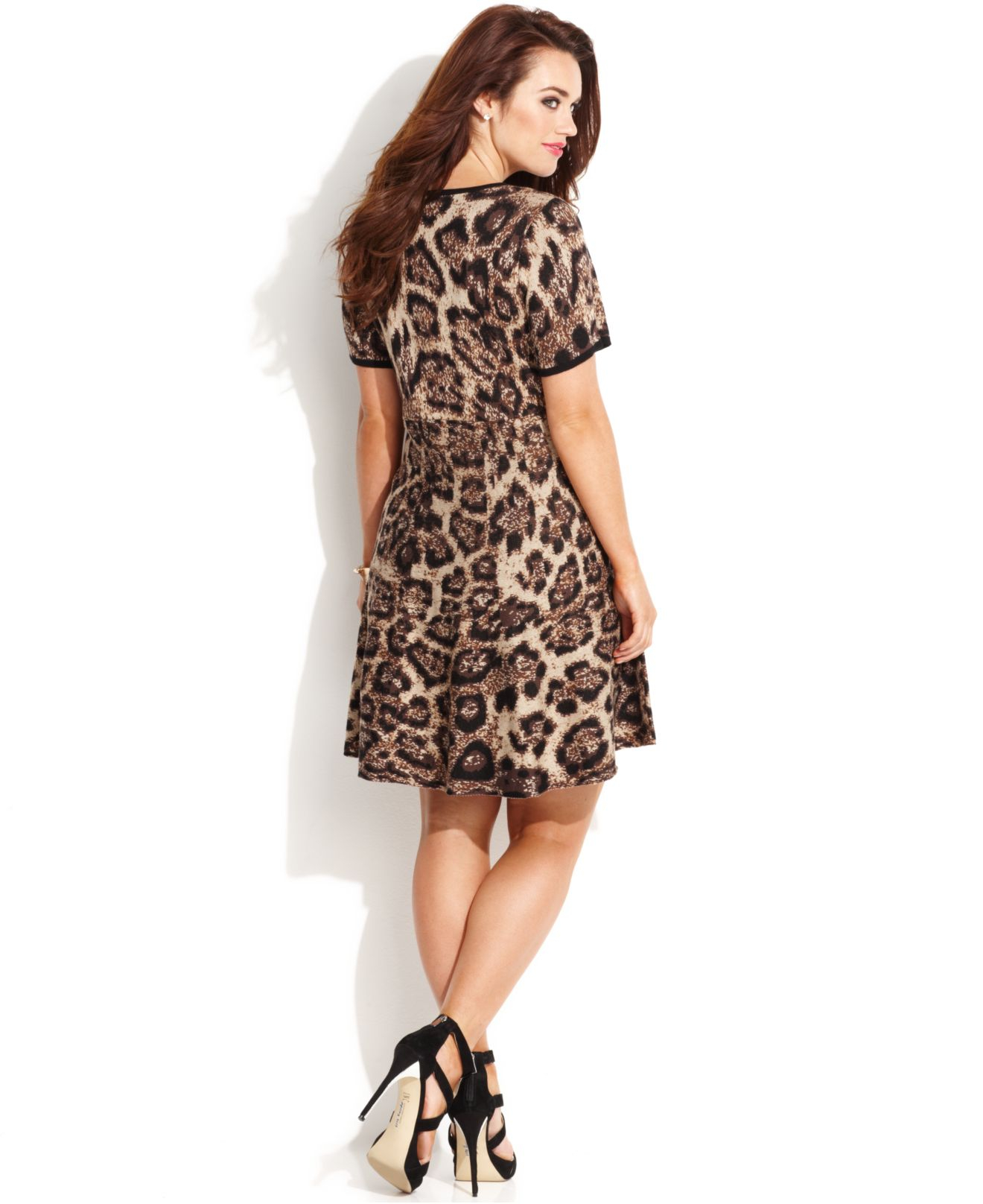 Inc international concepts Plus Size Short-Sleeve Animal-Print ...