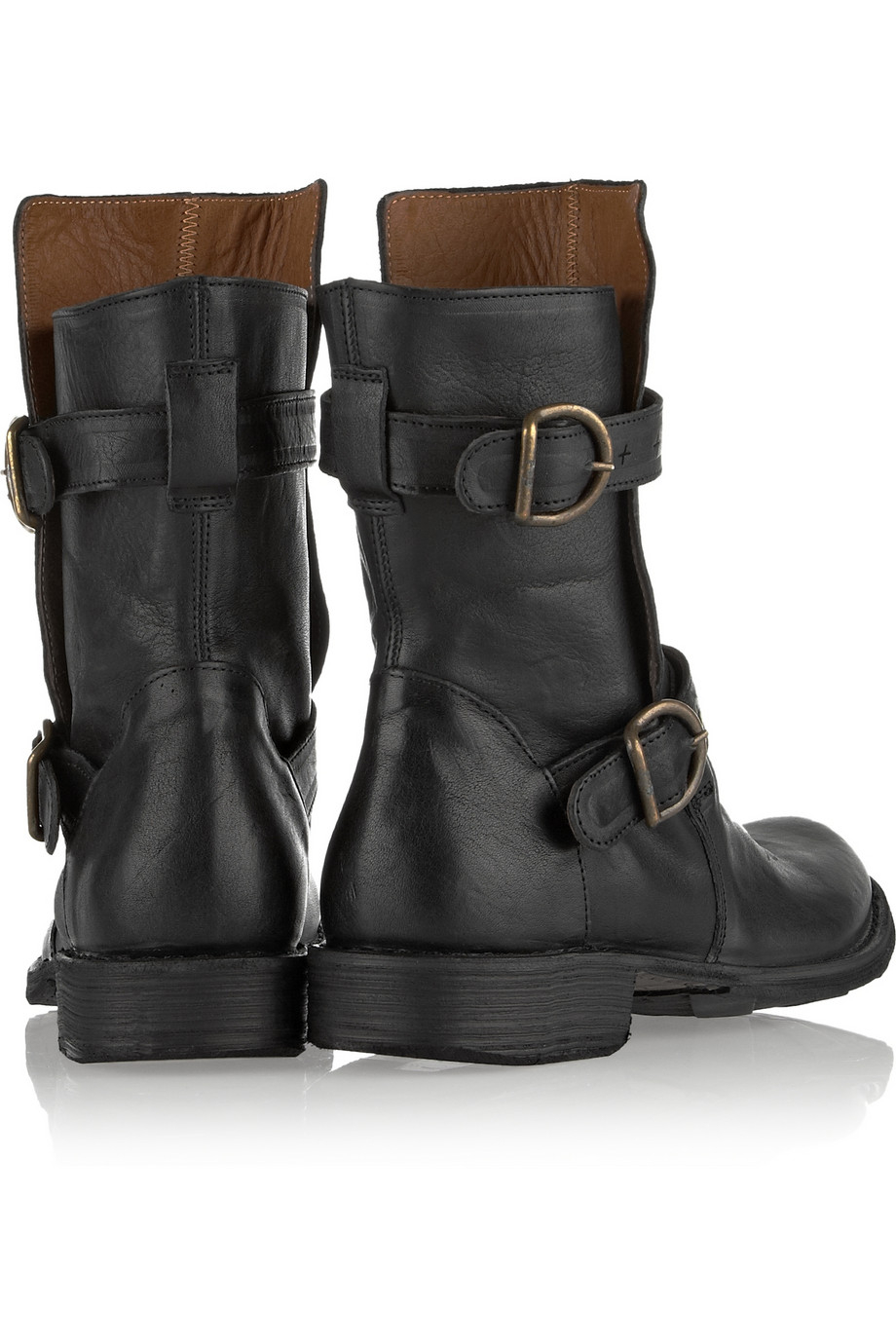 fiorentini baker eternity leather biker boots in black lyst. Black Bedroom Furniture Sets. Home Design Ideas