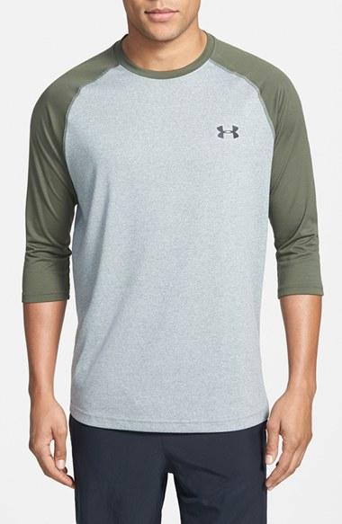 ad858b2e Under Armour 'ua Tech' Heatgear Baseball T-shirt in Green for Men - Lyst